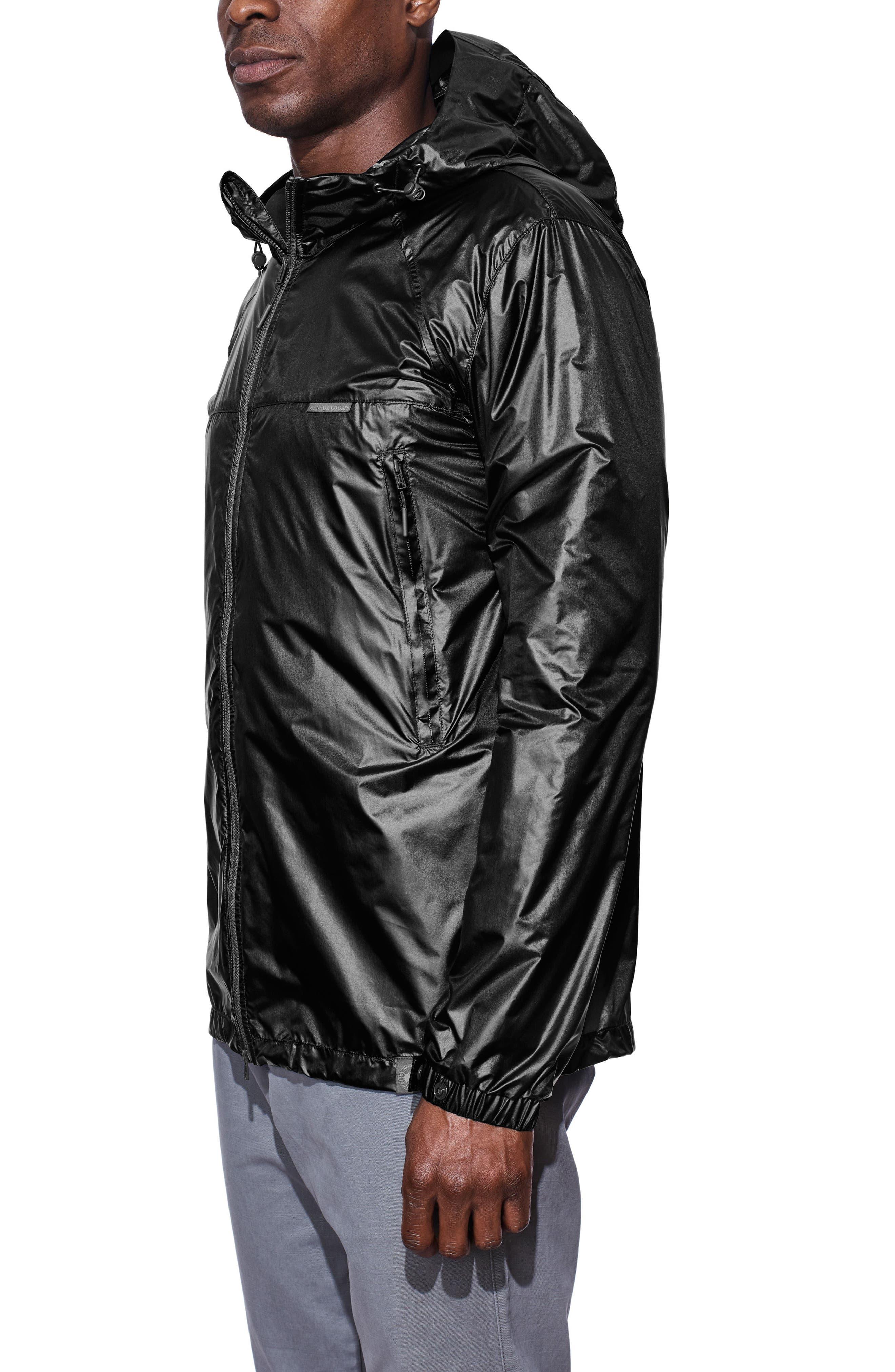 Sandpoint Windbreaker Jacket,                             Alternate thumbnail 3, color,                             Black