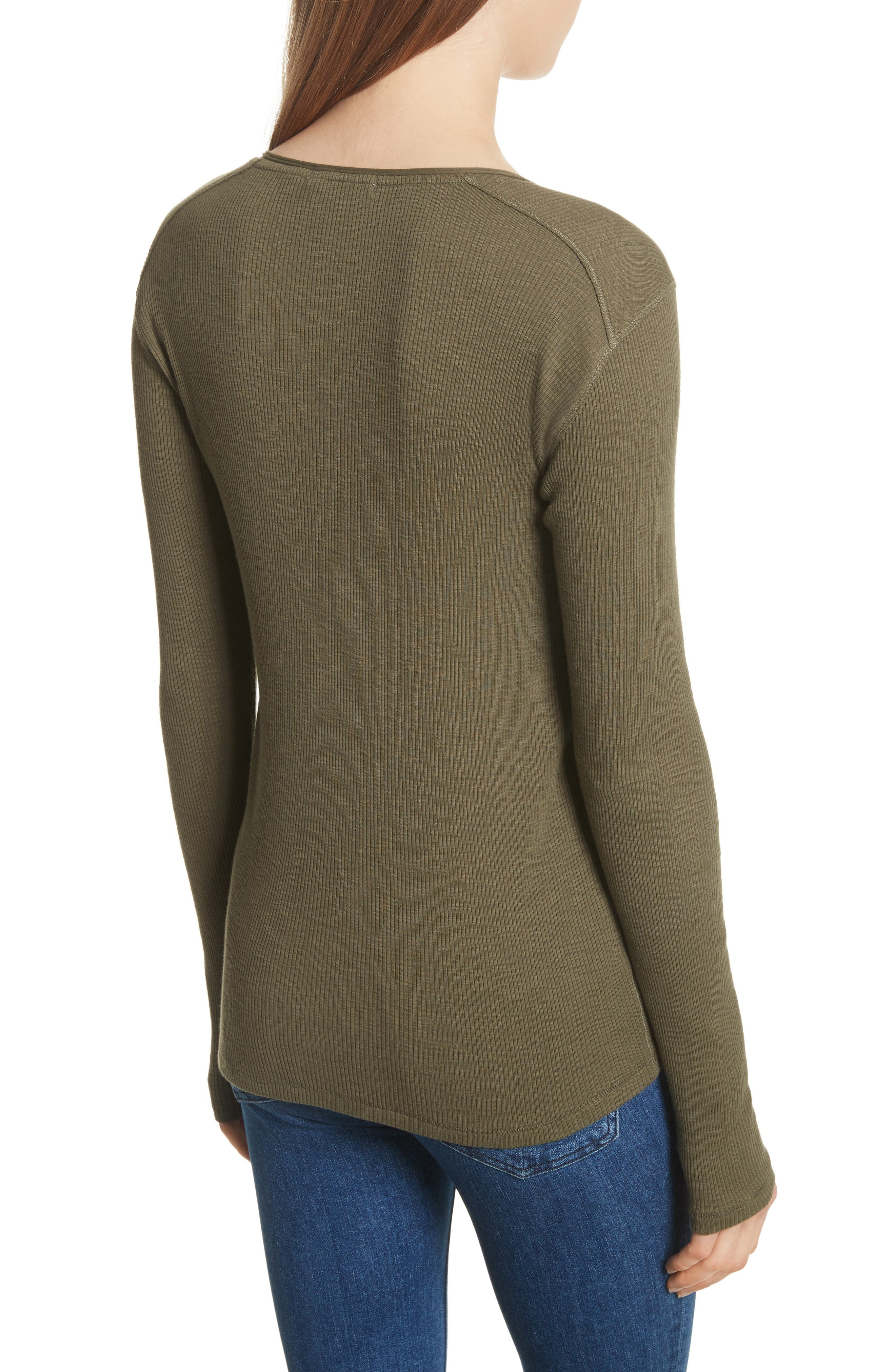 Lilies Henley,                             Alternate thumbnail 2, color,                             Dark Olive