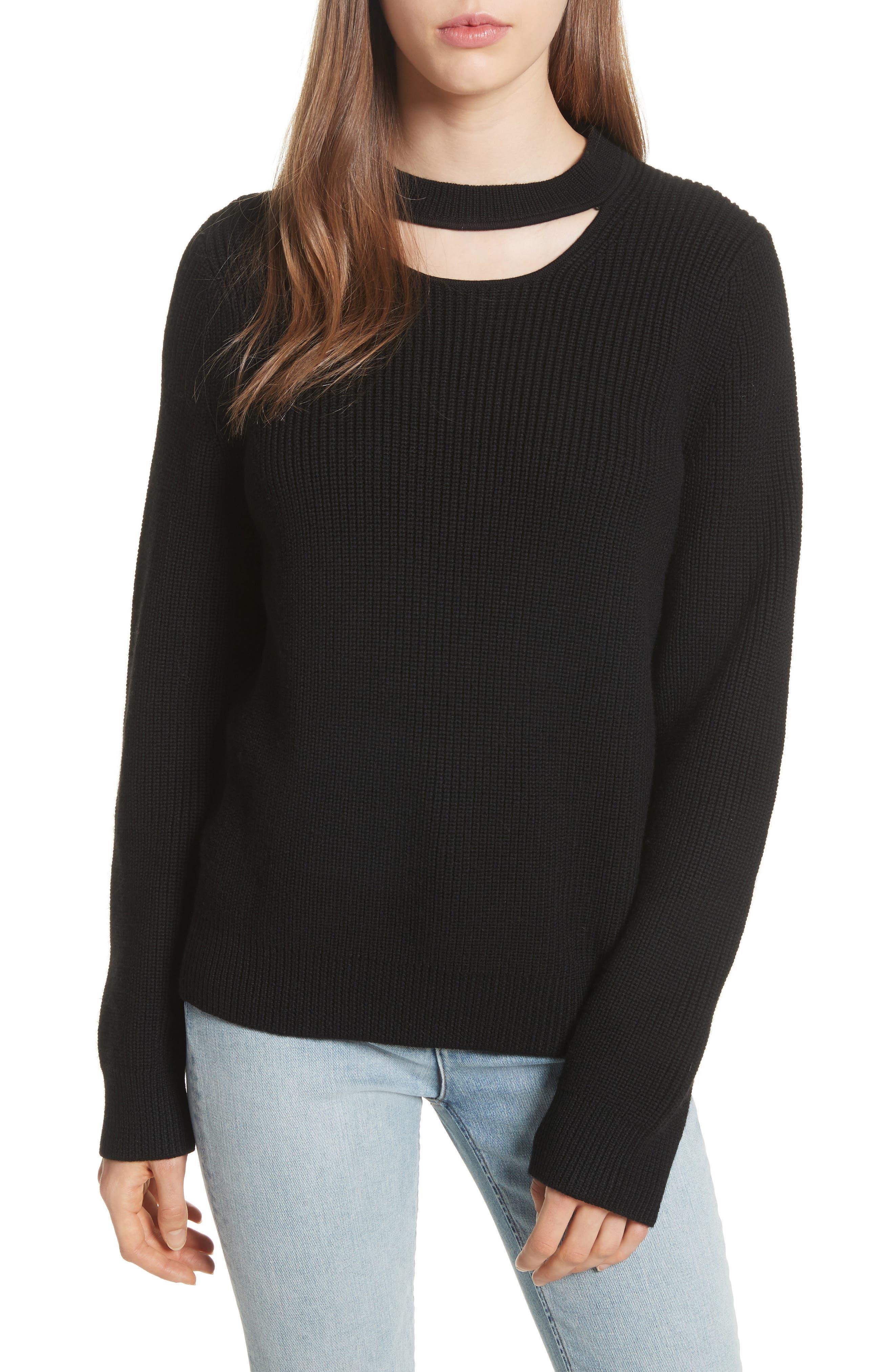 Alternate Image 1 Selected - rag & bone/JEAN Tori Cutout Sweatshirt