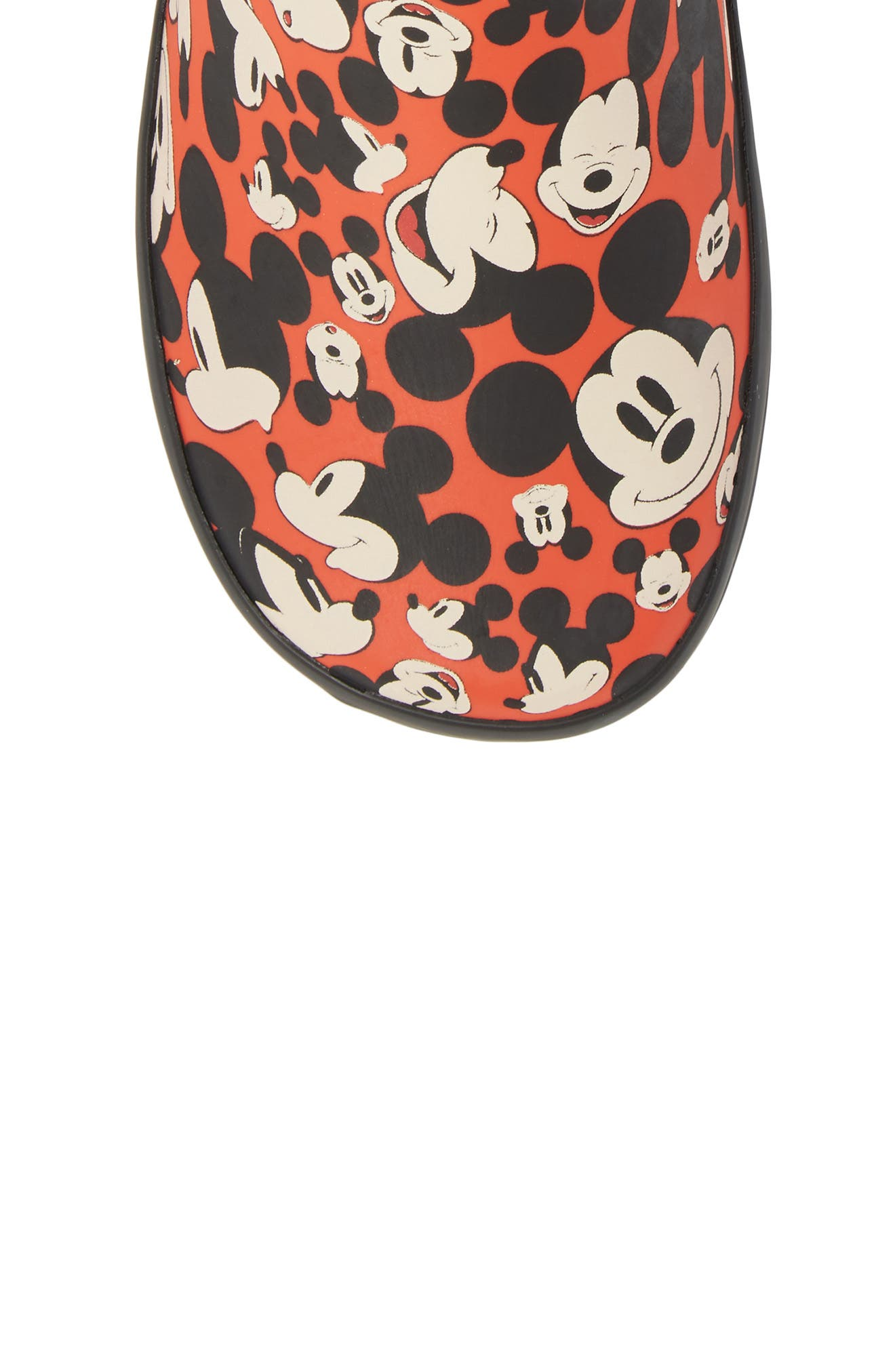 Happy Mickey Rain Boot,                             Alternate thumbnail 5, color,                             Red