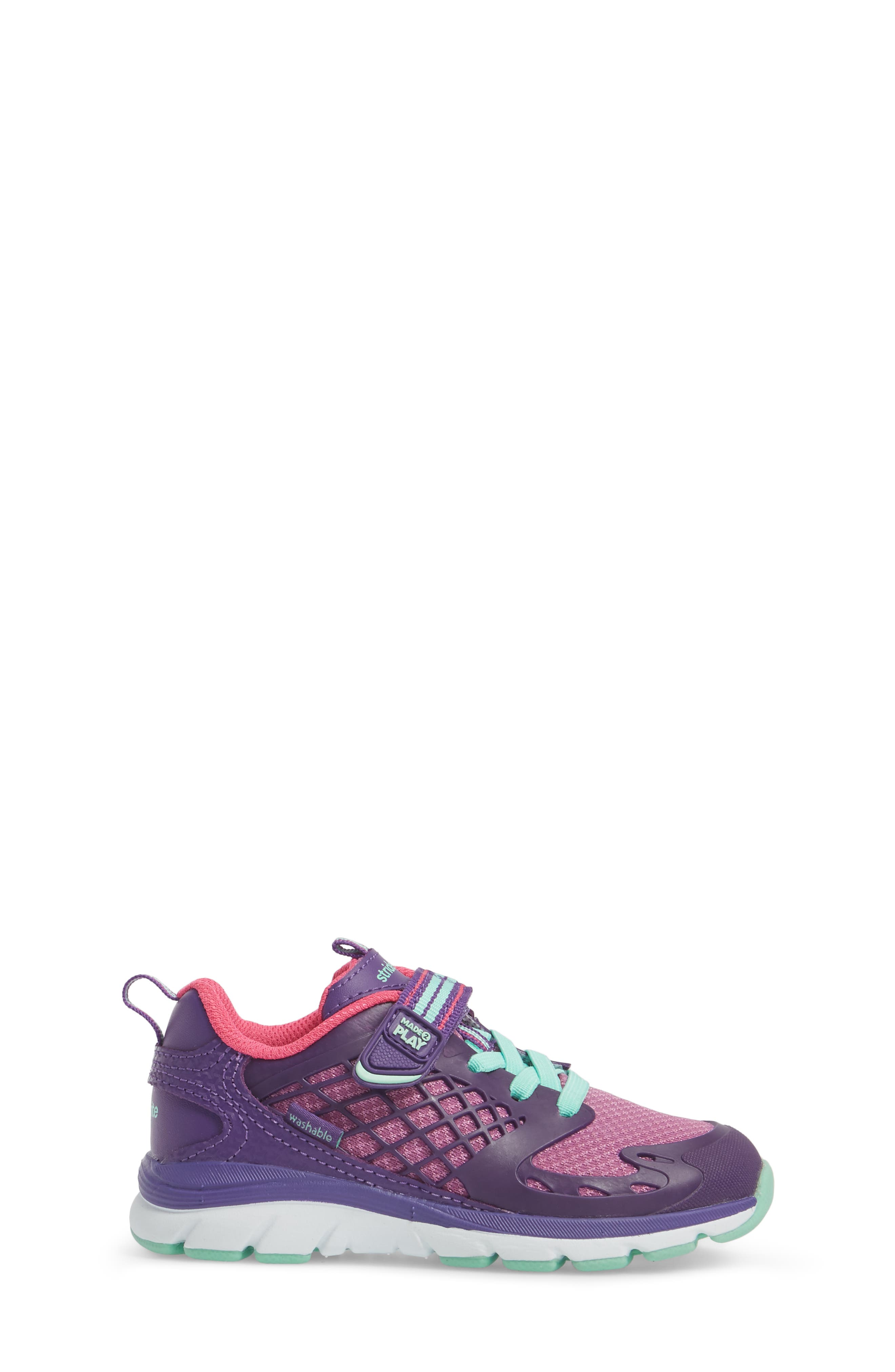 'Made2Play<sup>®</sup> Cannan Lace' Sneaker,                             Alternate thumbnail 3, color,                             Purple Leather/ Textile