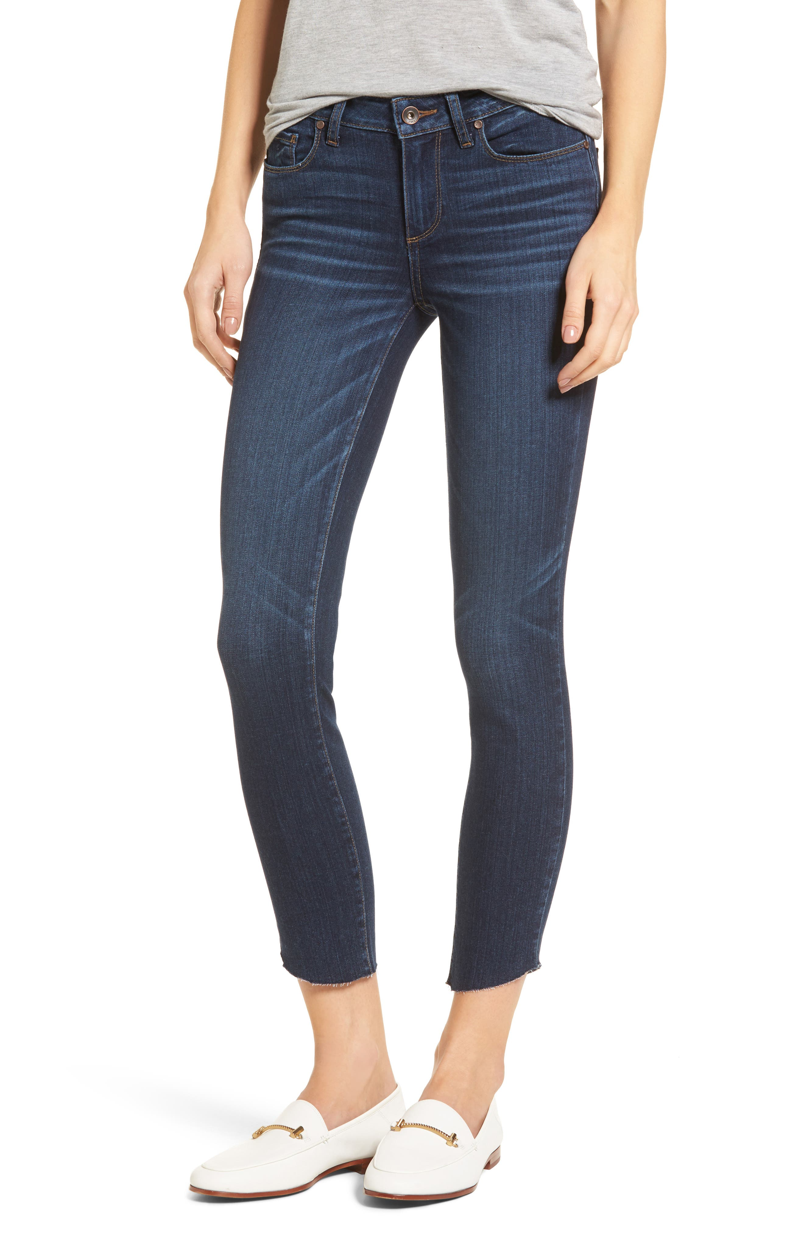 Main Image - PAIGE Transcend - Verdugo Ankle Ultra Skinny Jeans (Oaklyn)