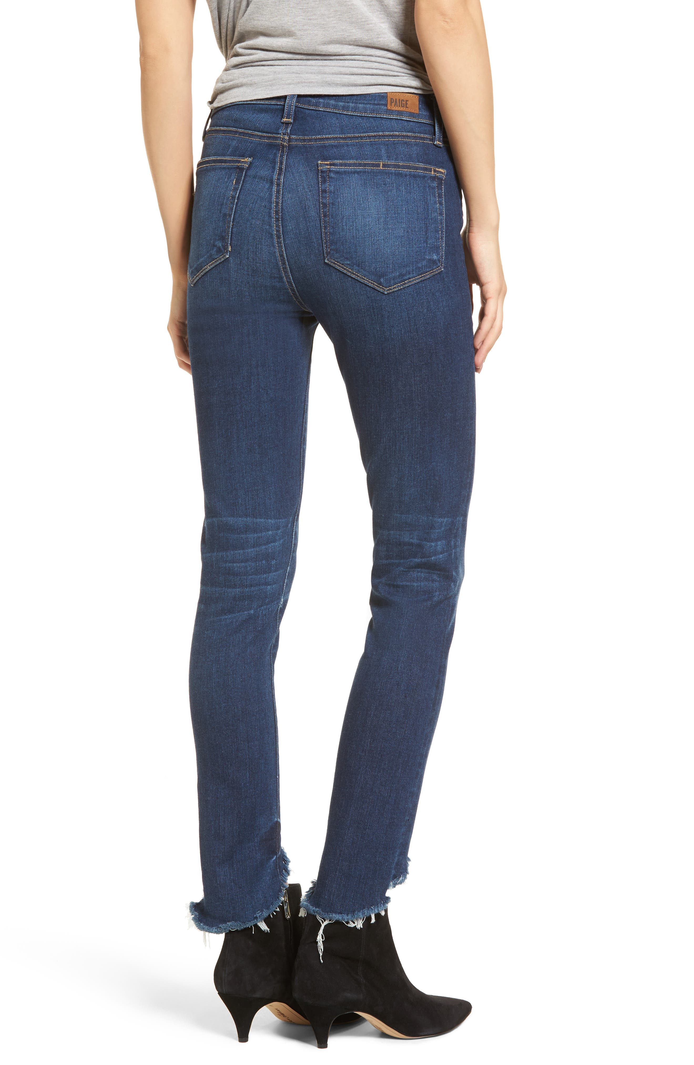 Transcend Vintage - Hoxton High Waist Ankle Skinny Jeans,                             Alternate thumbnail 2, color,                             Auburn