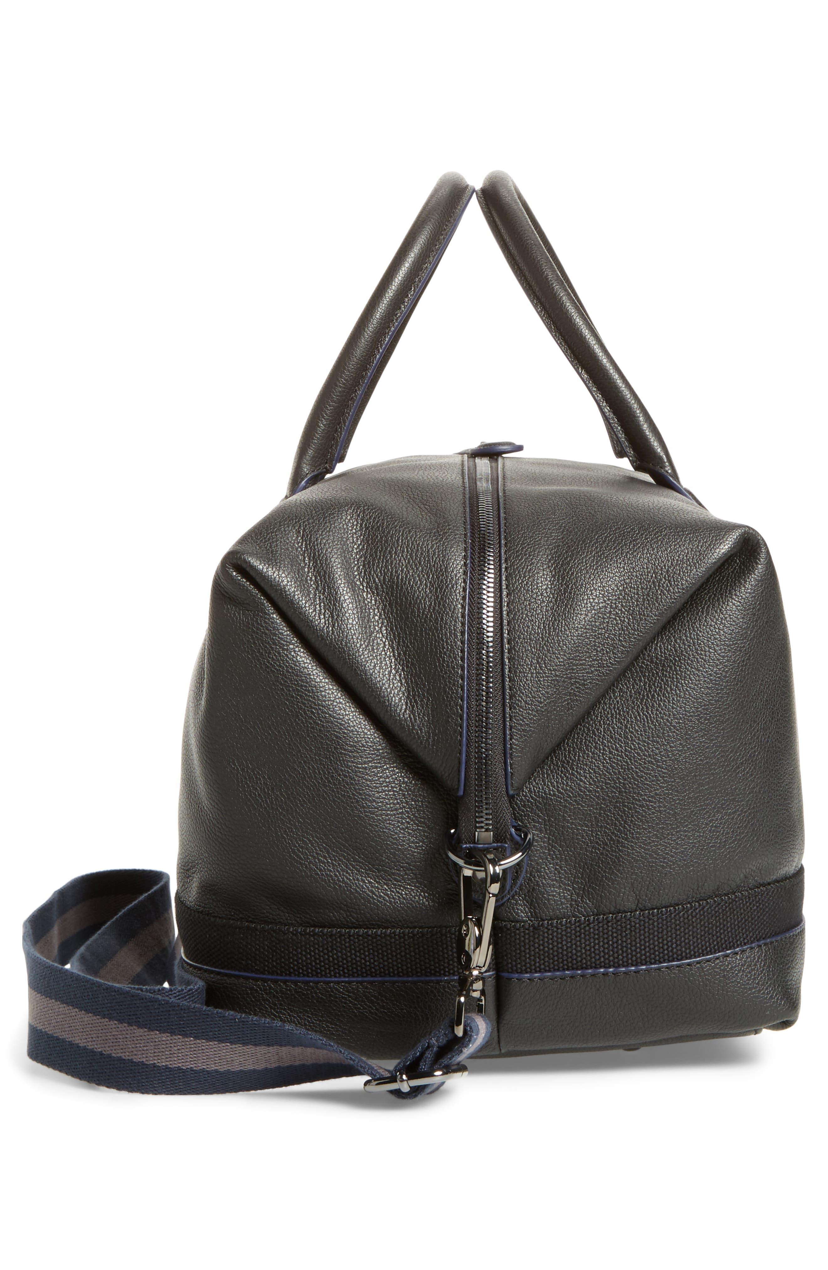 Mylow Duffel Bag,                             Alternate thumbnail 5, color,                             Black