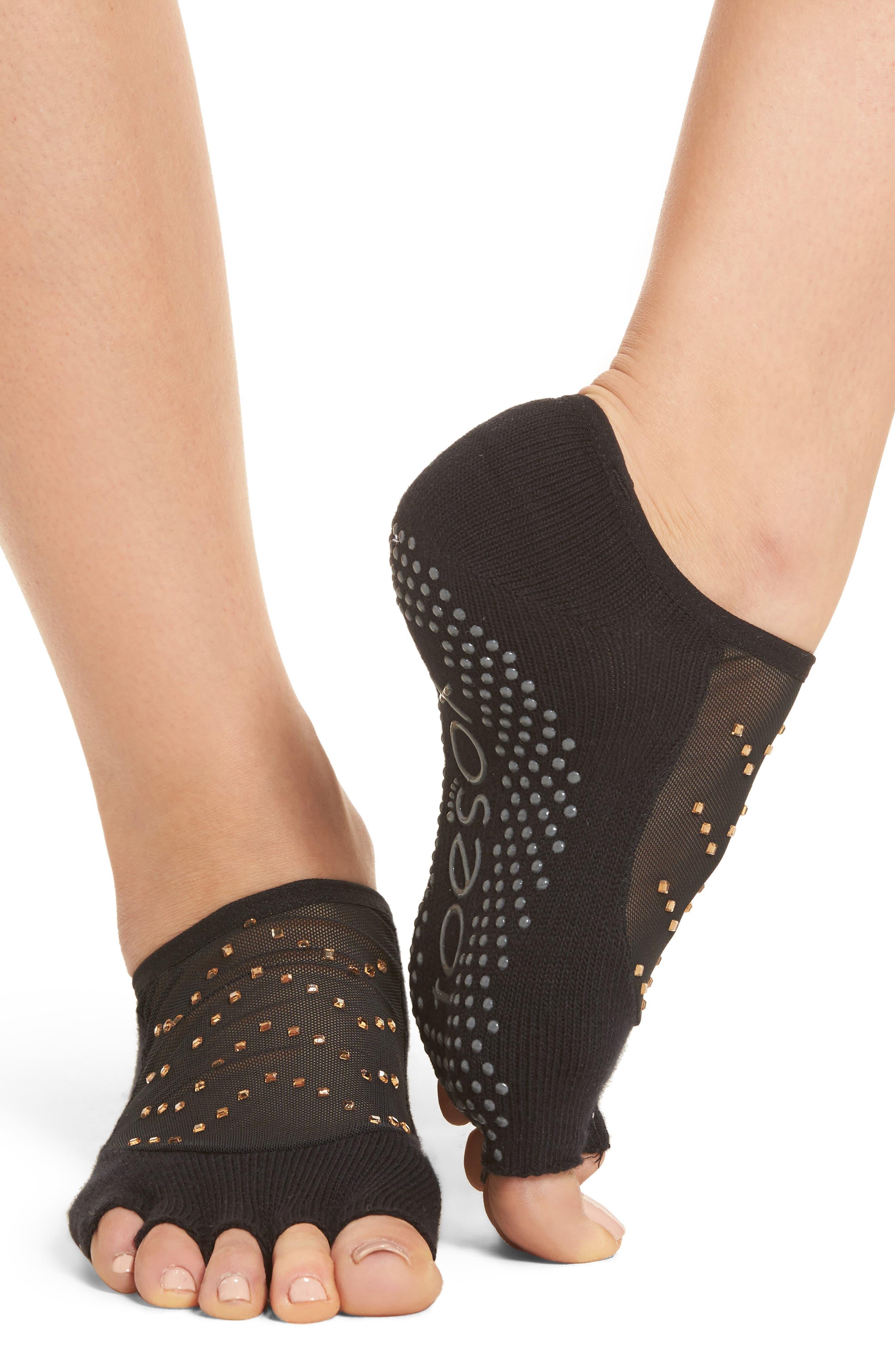 Luna Half Toe Gripper Socks,                             Alternate thumbnail 3, color,                             Twilight
