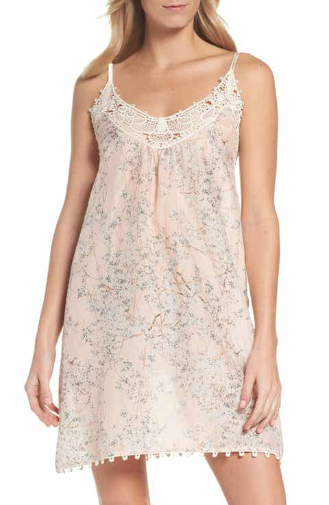 Papinelle Cherry Blossom Cotton & Silk Chemise