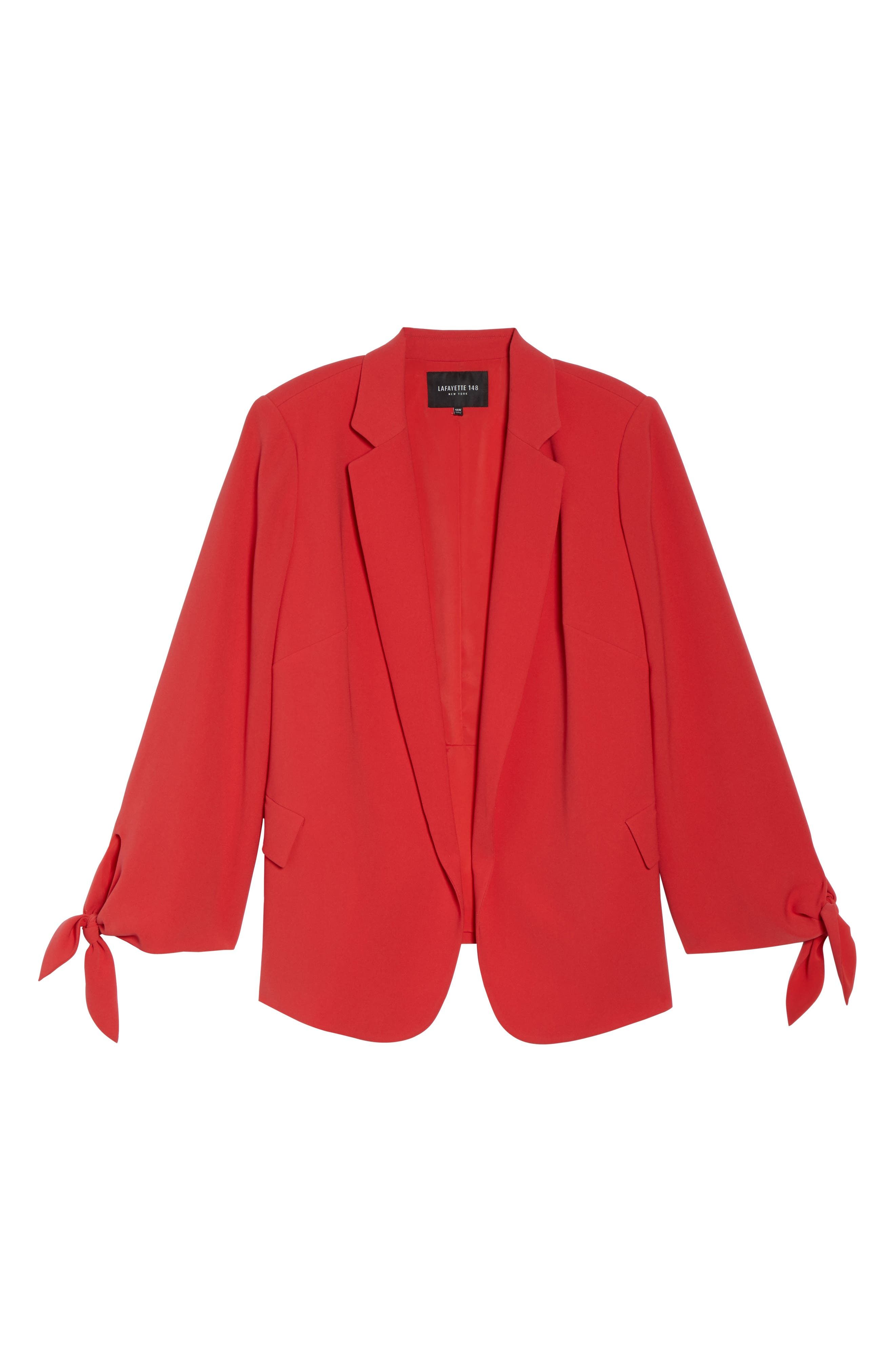 Bria Finesse Crepe Jacket,                             Alternate thumbnail 6, color,                             Salsa