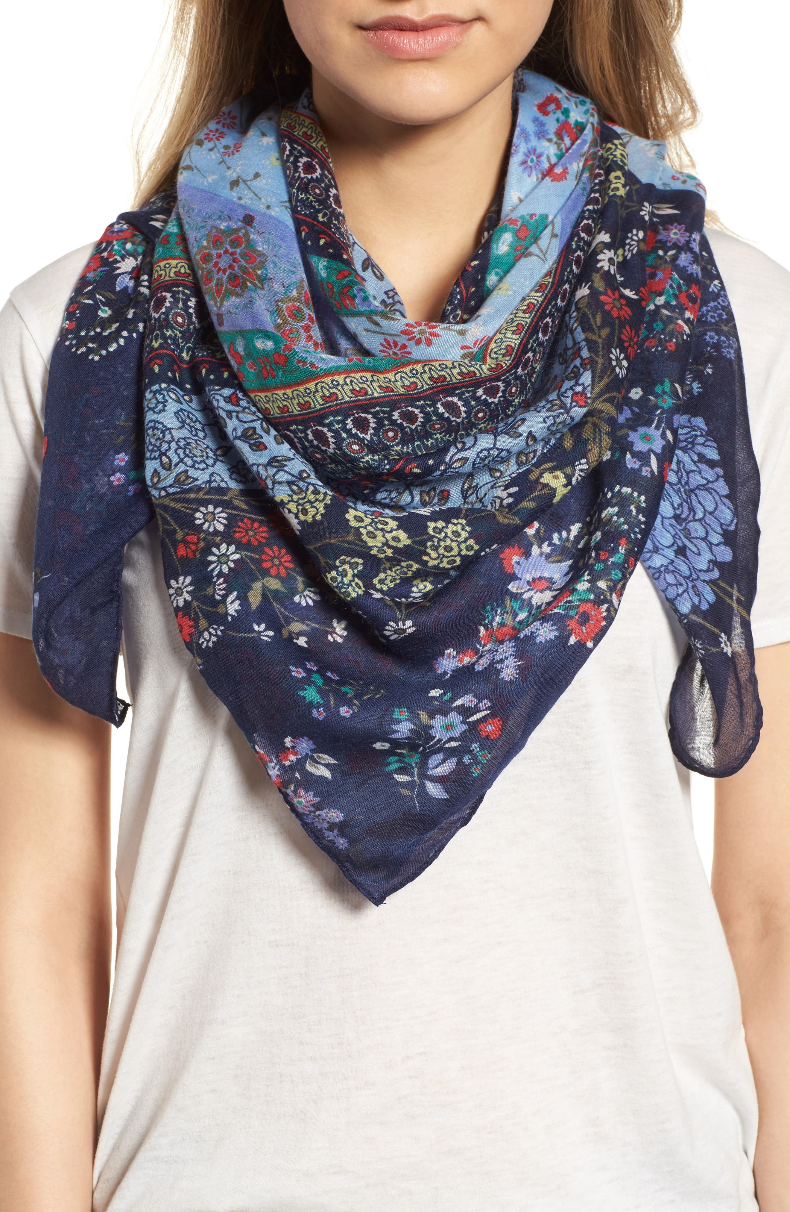Alternate Image 1 Selected - Collection XIIX Ditsy Floral Patchwork Scarf