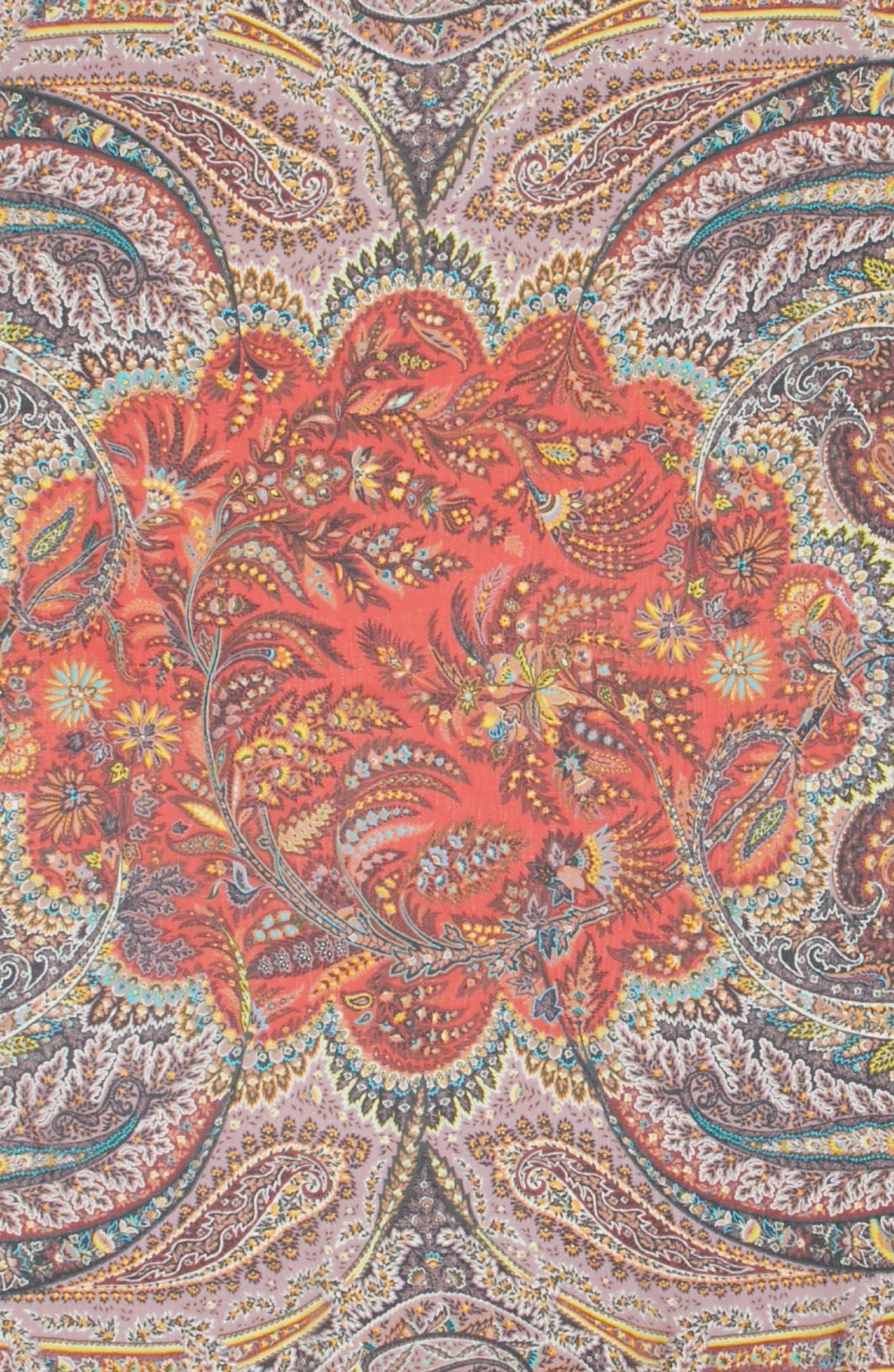 Alternate Image 4  - Etro Fern Paisley Tassel Silk Square Scarf
