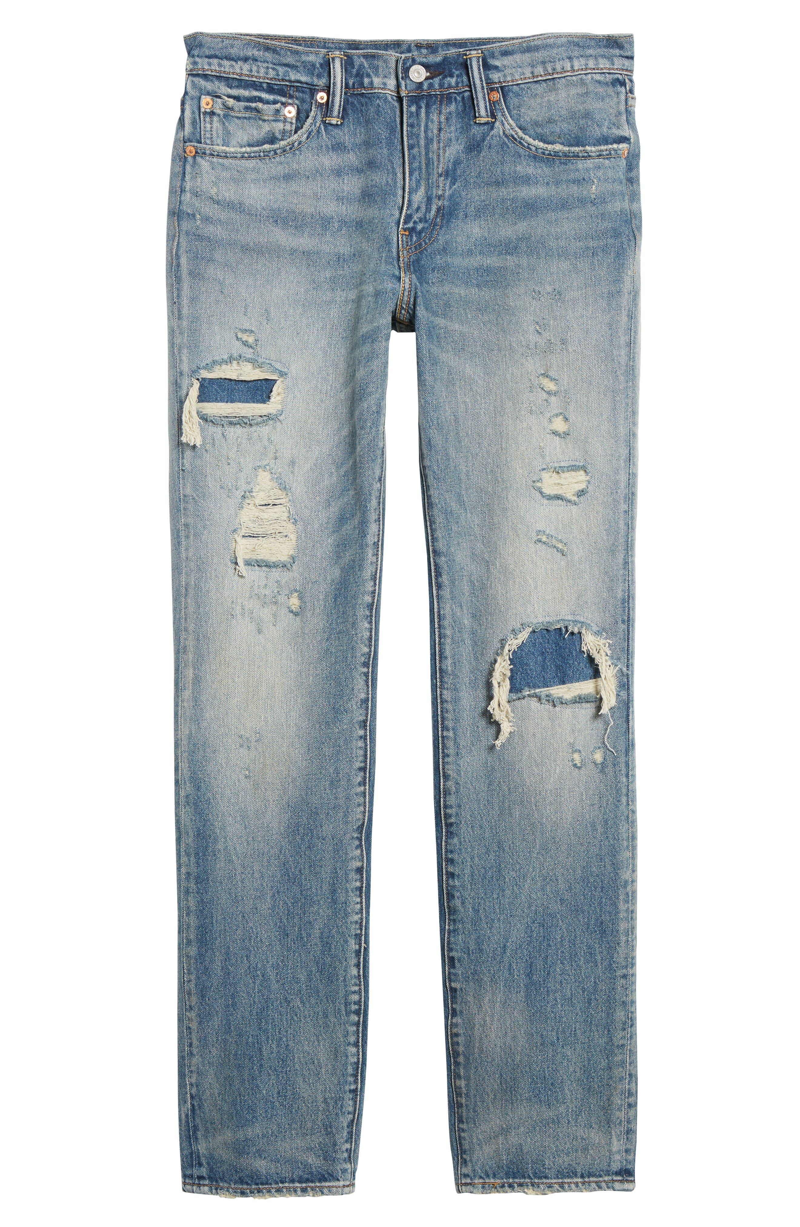 511<sup>™</sup> Slim Fit Jeans,                             Alternate thumbnail 6, color,                             Medium Blue Burn