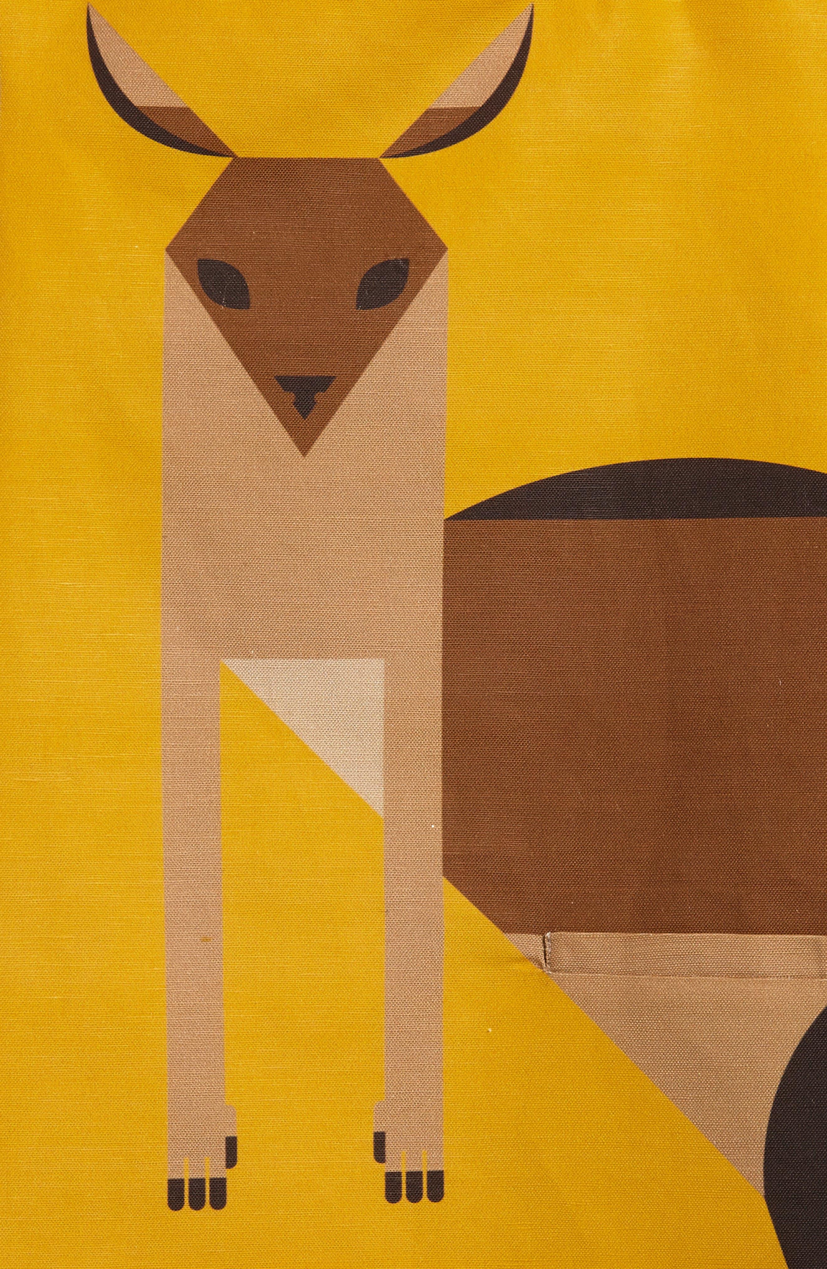 Kangaroo Shift Dress,                             Alternate thumbnail 3, color,                             Marigold