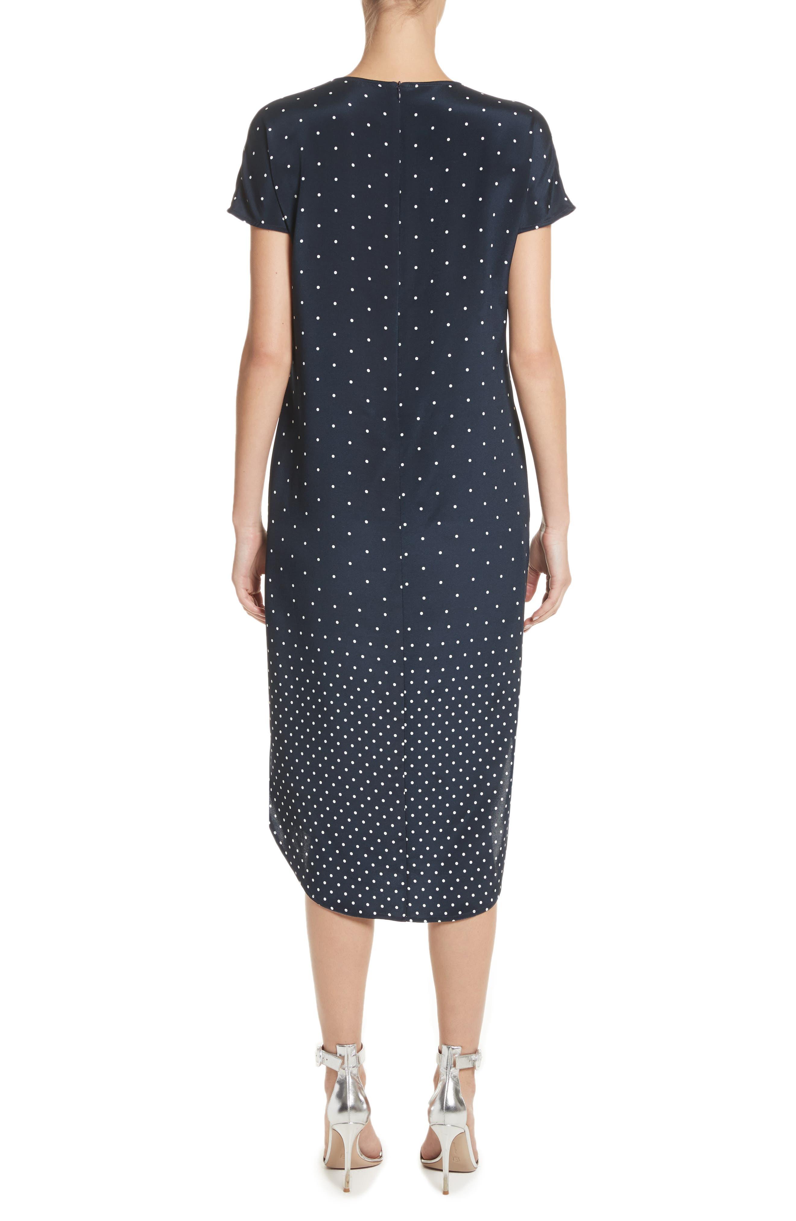 Dot & Stripe Stretch Dress,                             Alternate thumbnail 2, color,                             Navy