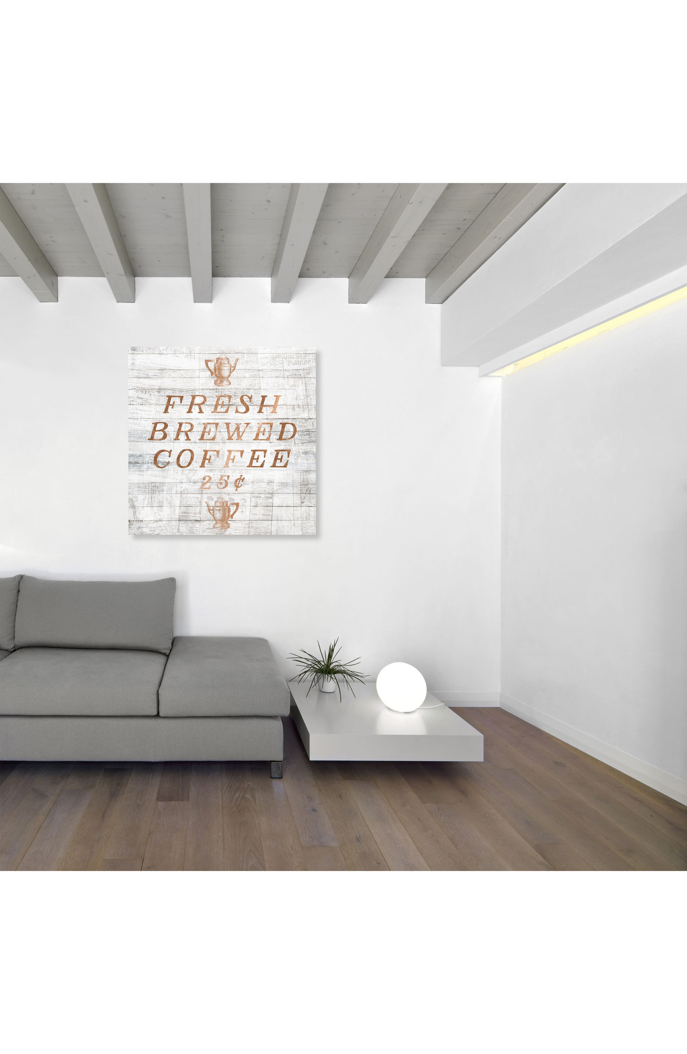 Fresh Brewed Coffee Canvas Wall Art,                             Alternate thumbnail 2, color,                             Metallic Rust/ Copper
