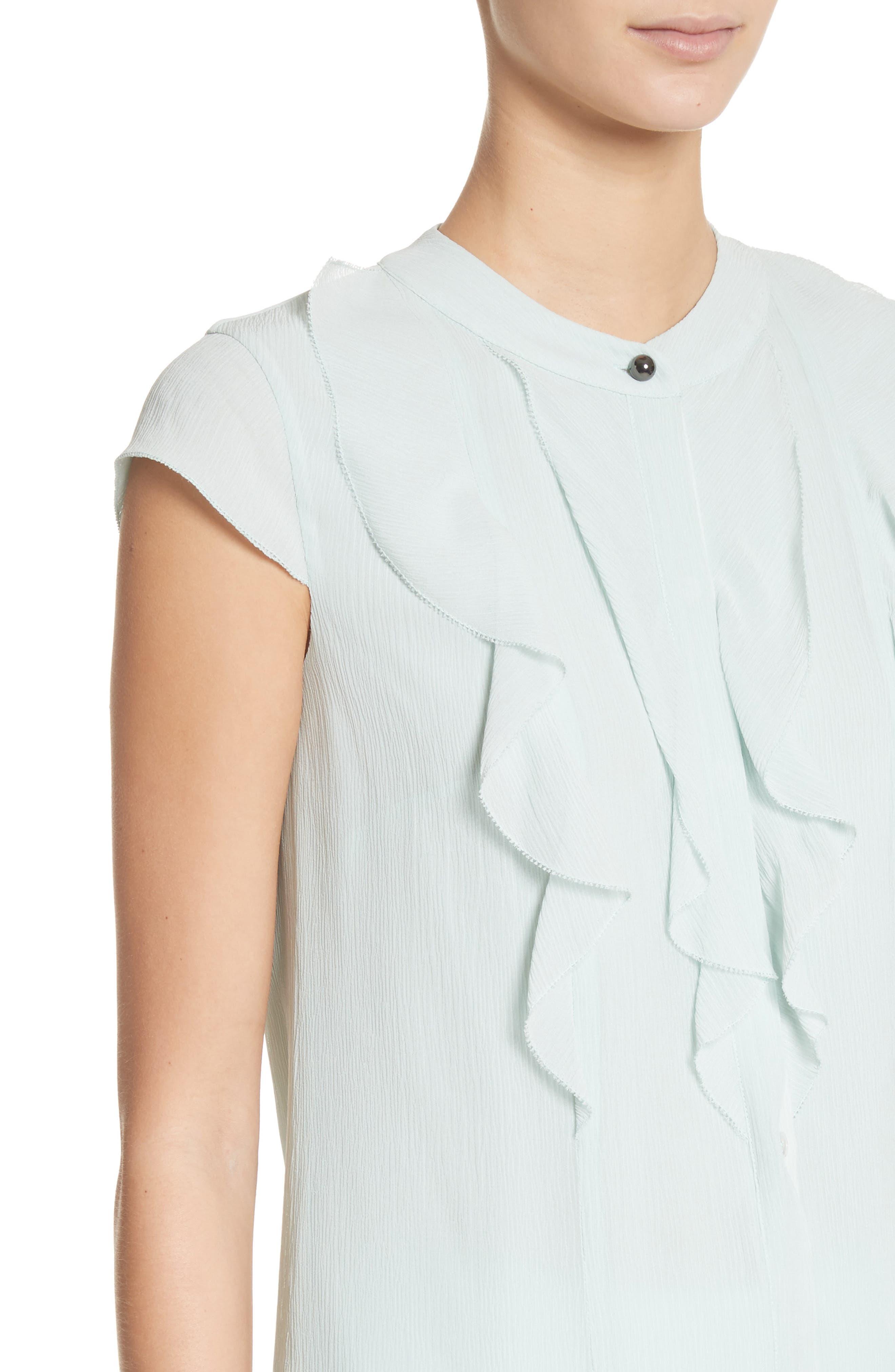 Alternate Image 4  - St. John Collection Crinkle Silk Georgette Blouse