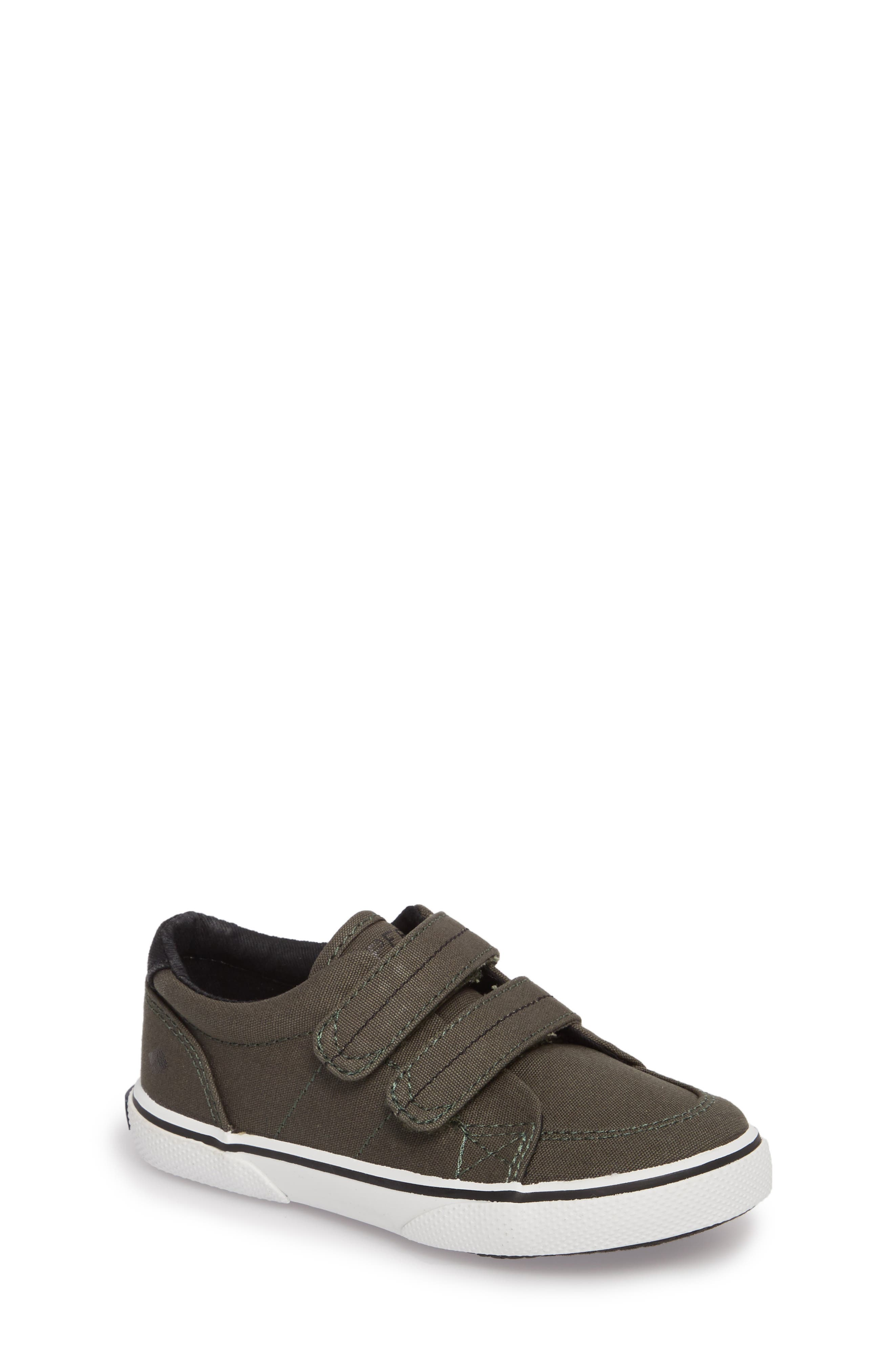 Sperry Top-Sider<sup>®</sup> Kids 'Halyard' Sneaker,                             Main thumbnail 1, color,                             Olive