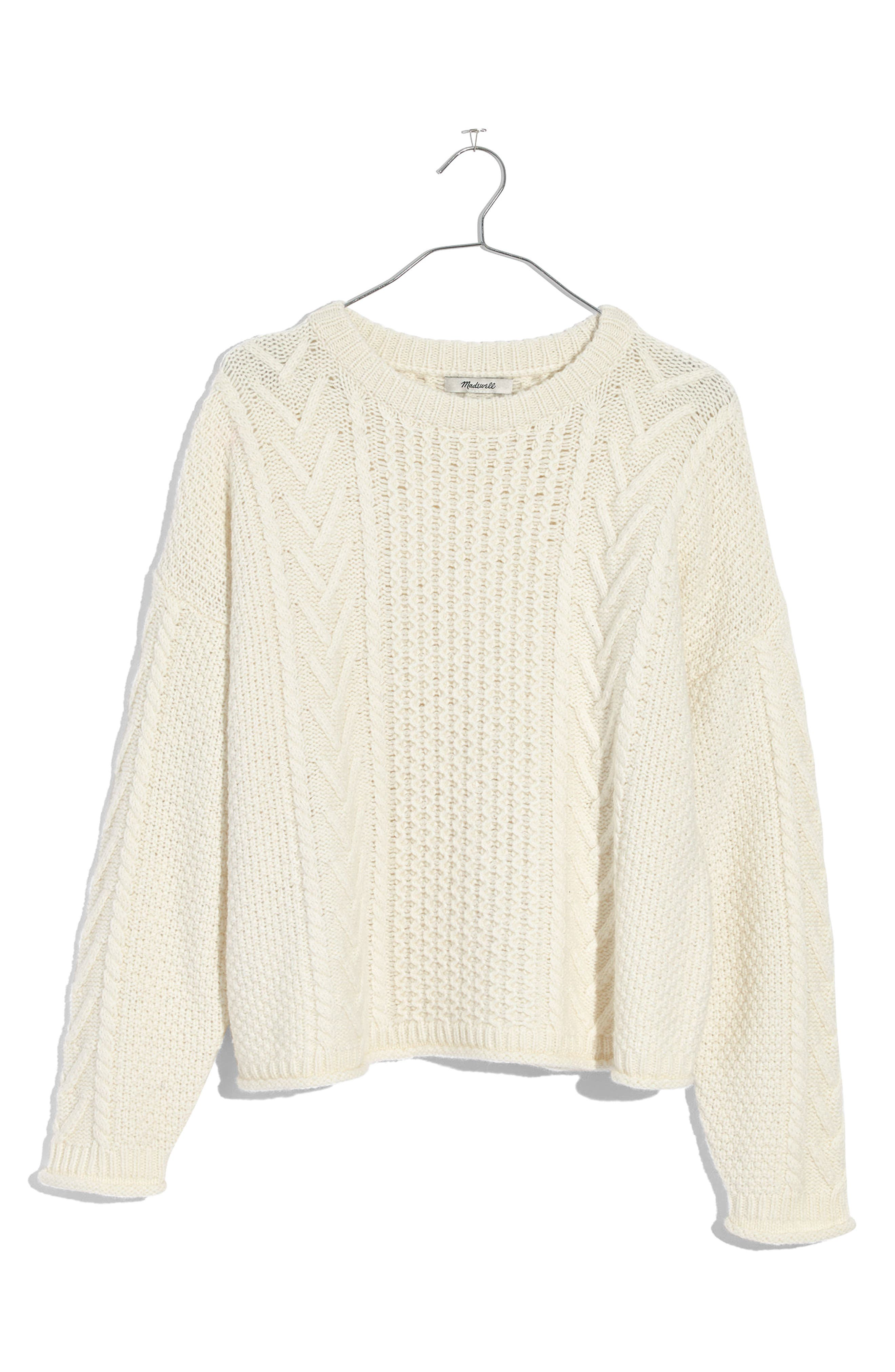 Madewell Cable Knit Pullover Sweater
