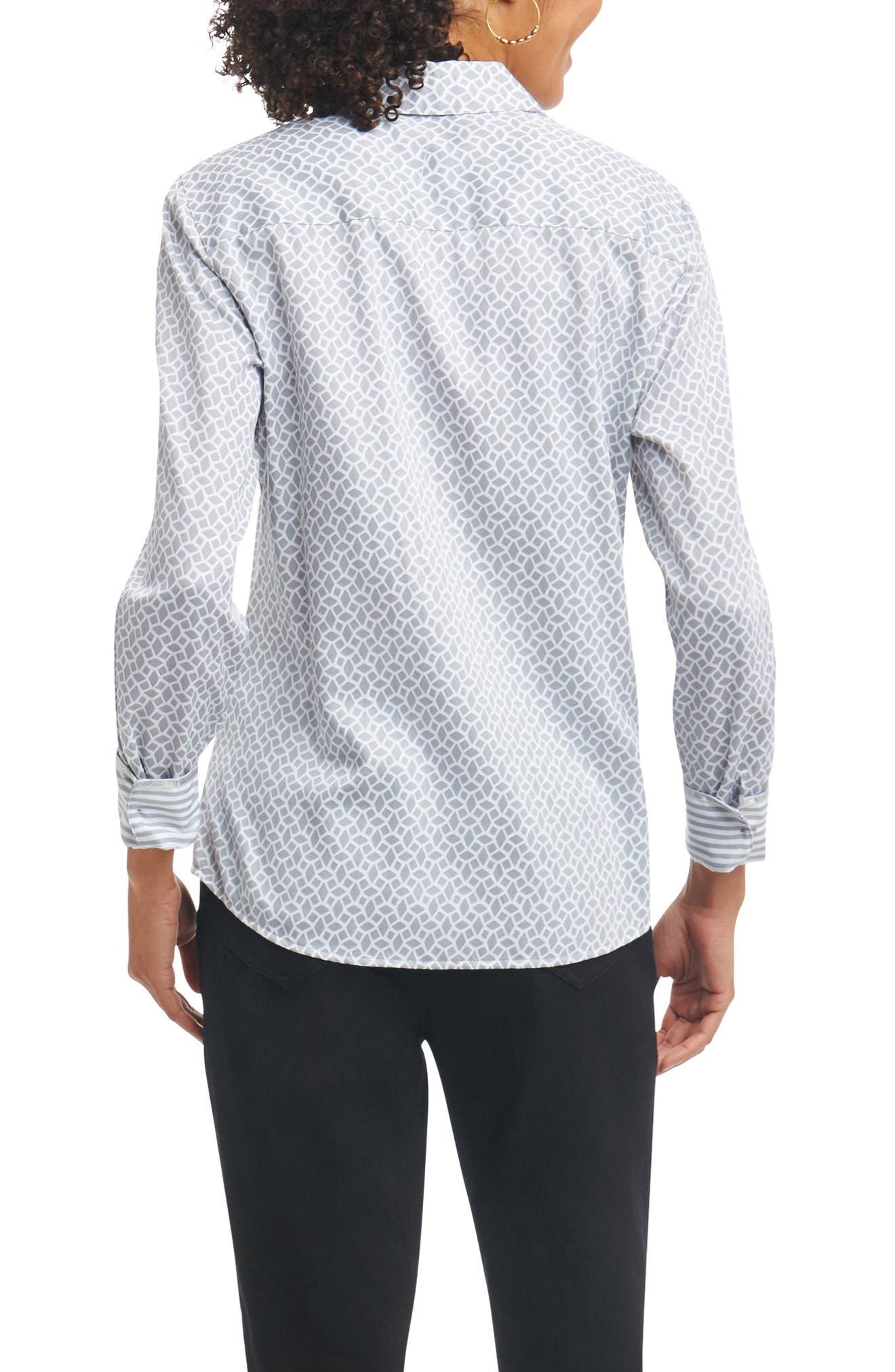 Ava Wrinkle Free Geo Print Shirt,                             Alternate thumbnail 2, color,                             Slate Multi