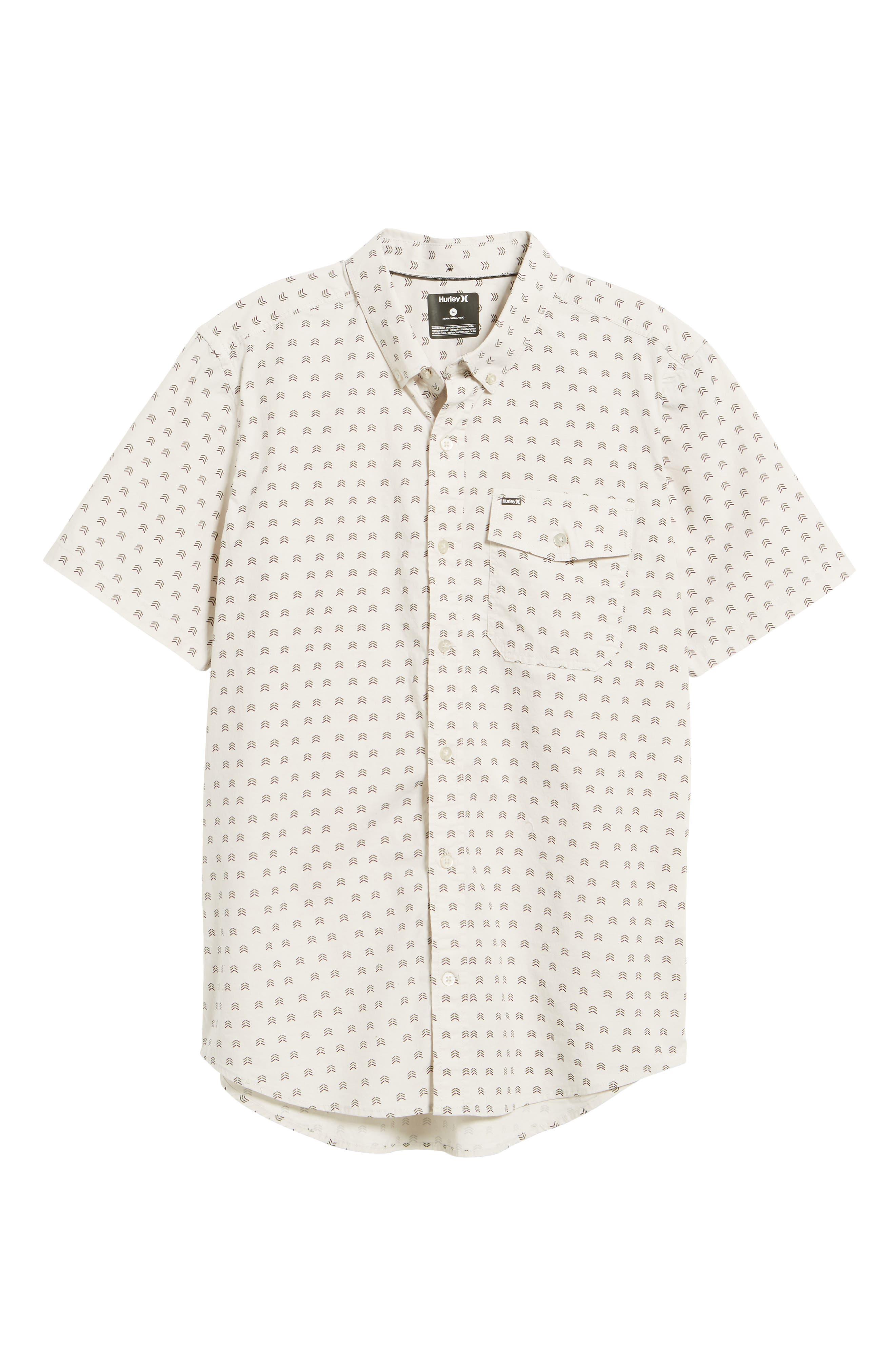 Brooks Woven Shirt,                             Alternate thumbnail 6, color,                             Light Orewood Brown
