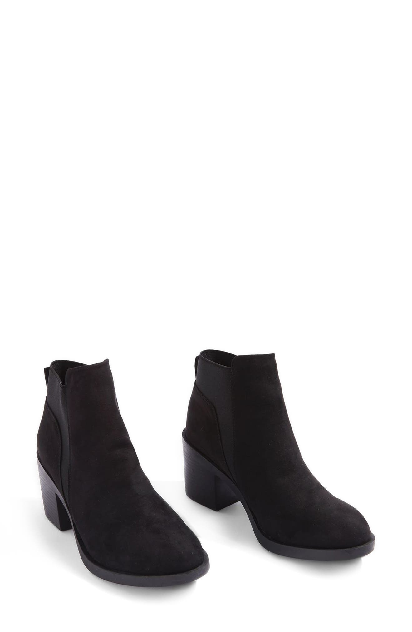 Buddy Block Heel Bootie,                         Main,                         color, Black