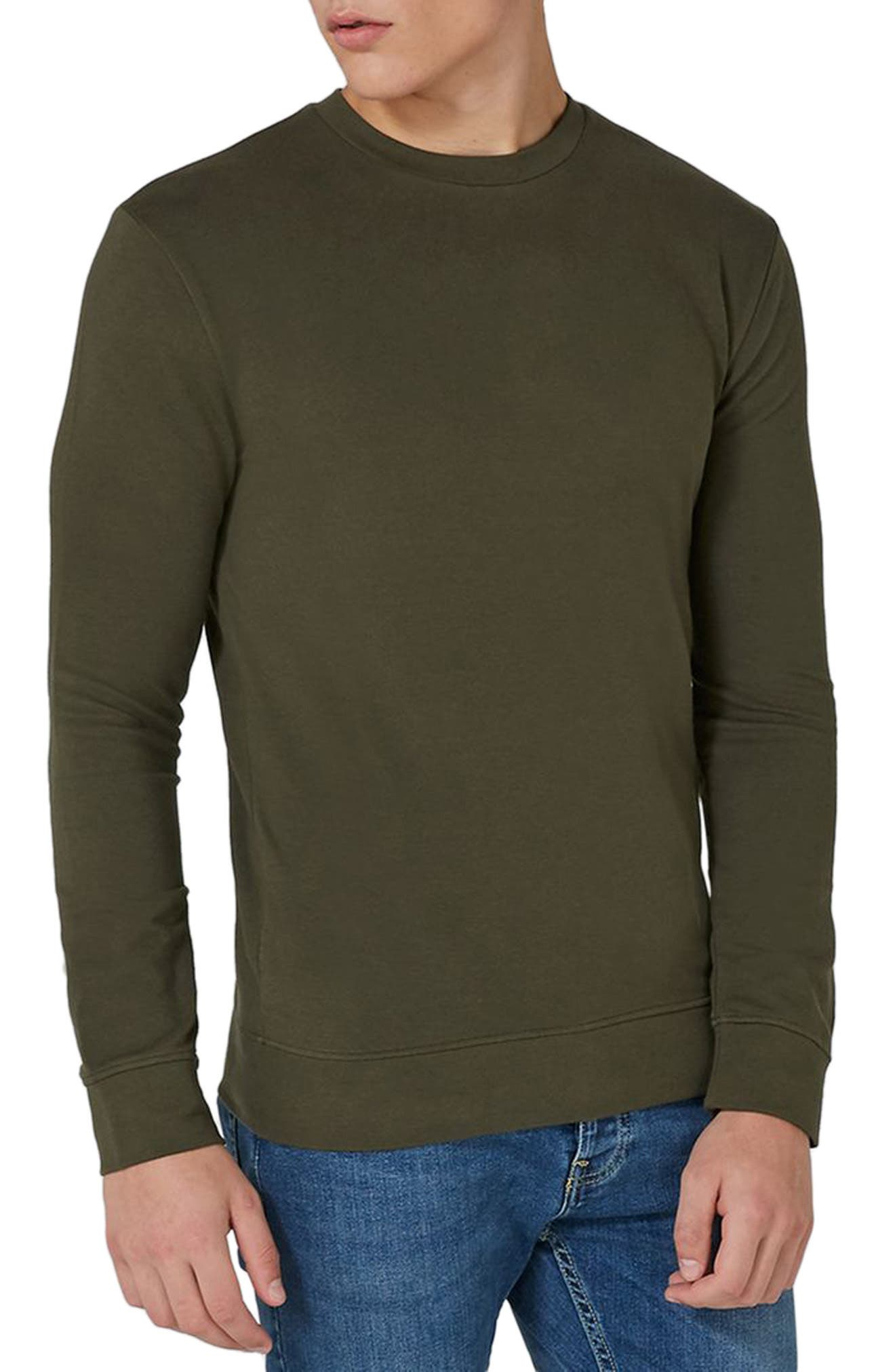 Ultra Muscle Fit Sweatshirt,                         Main,                         color, Olive