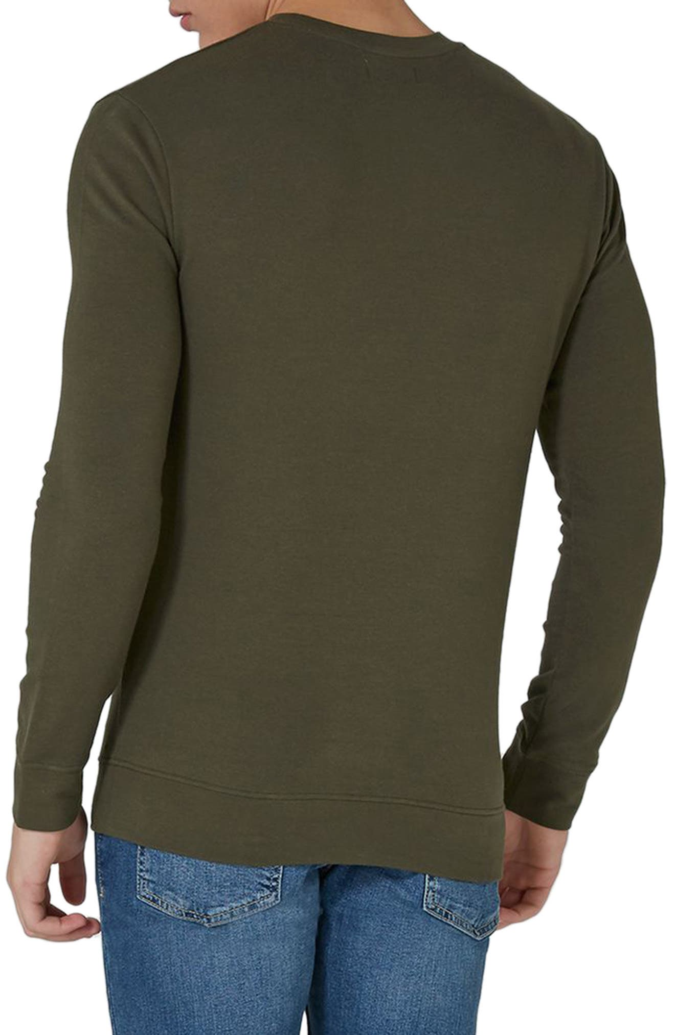 Ultra Muscle Fit Sweatshirt,                             Alternate thumbnail 2, color,                             Olive