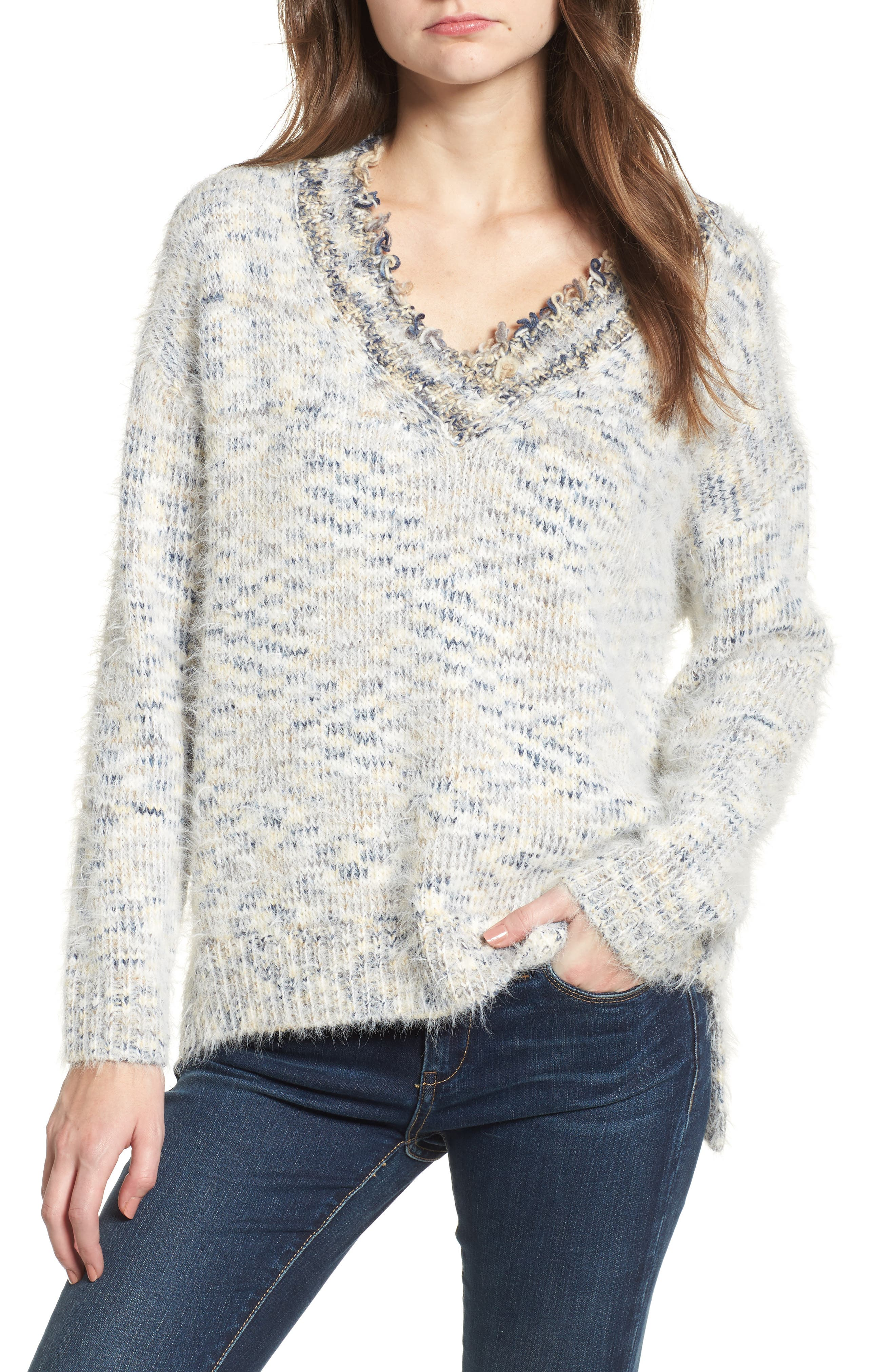 Keep at Bay Space-Dyed Sweater,                         Main,                         color, Multi