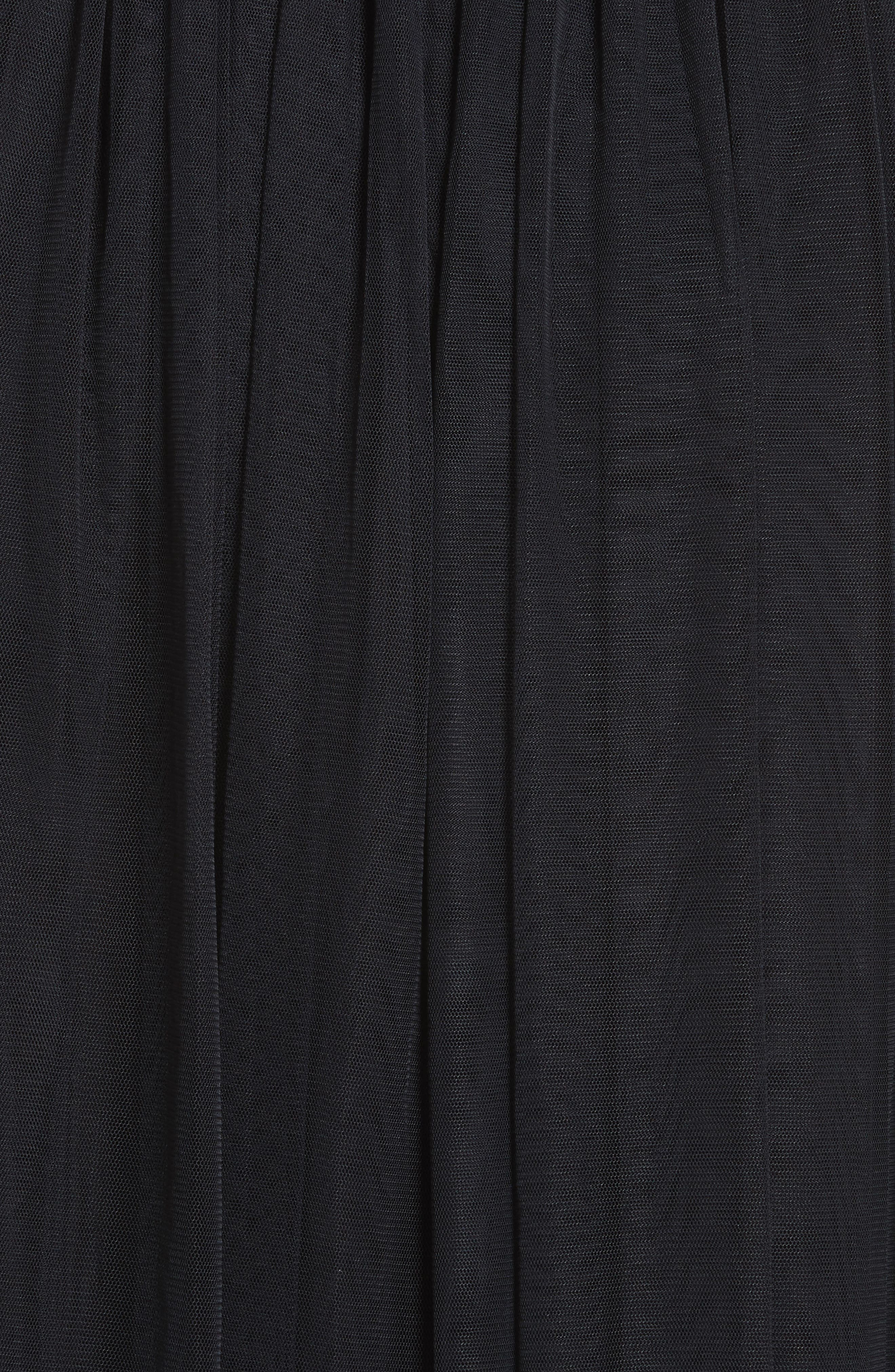 Pleated Tulle Skirt,                             Alternate thumbnail 5, color,                             Washed Black