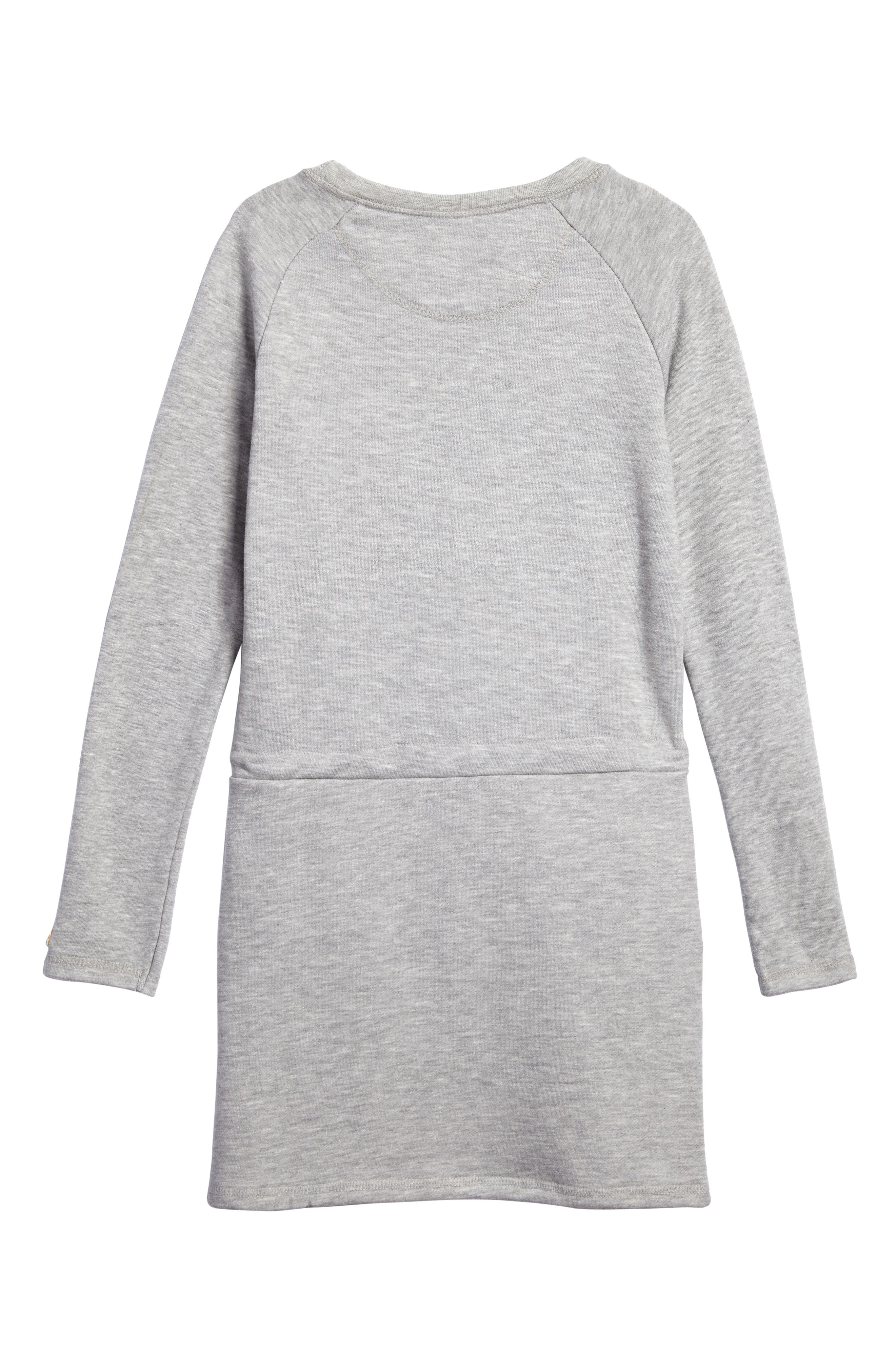 Sweatshirt Dress,                             Alternate thumbnail 2, color,                             Pearl Heather