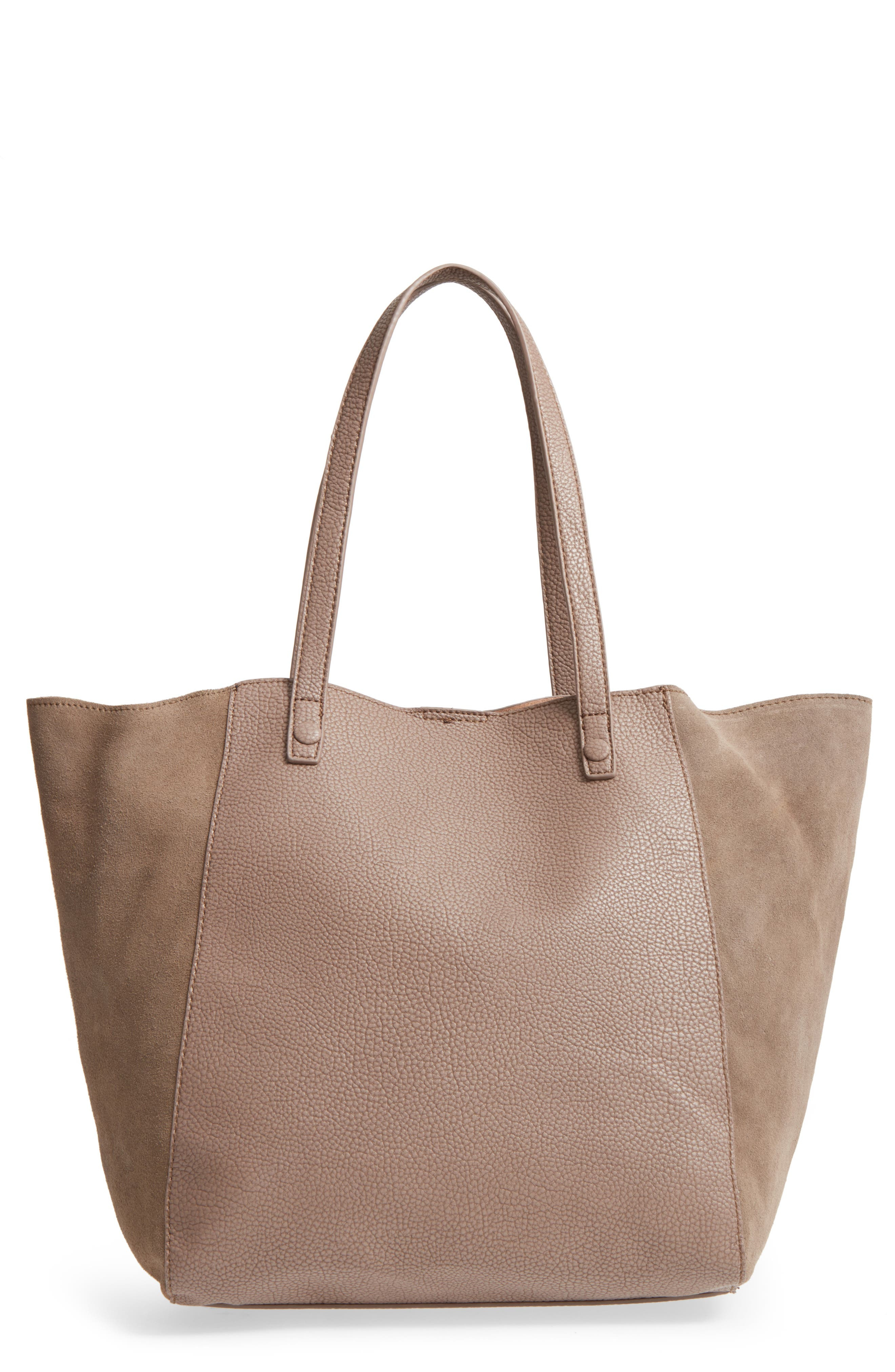 Alternate Image 1 Selected - Sole Society Wesley Slouchy Suede Tote