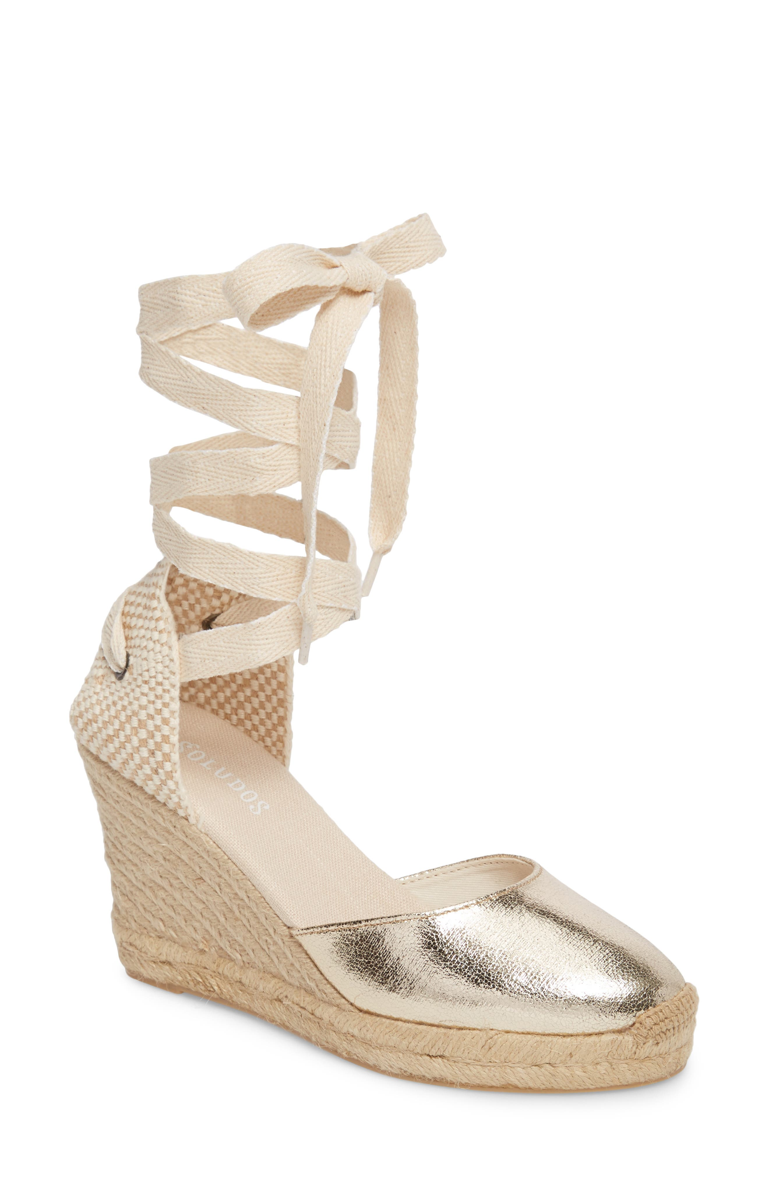 Main Image - Soludos Wedge Lace-Up Espadrille Sandal (Women)
