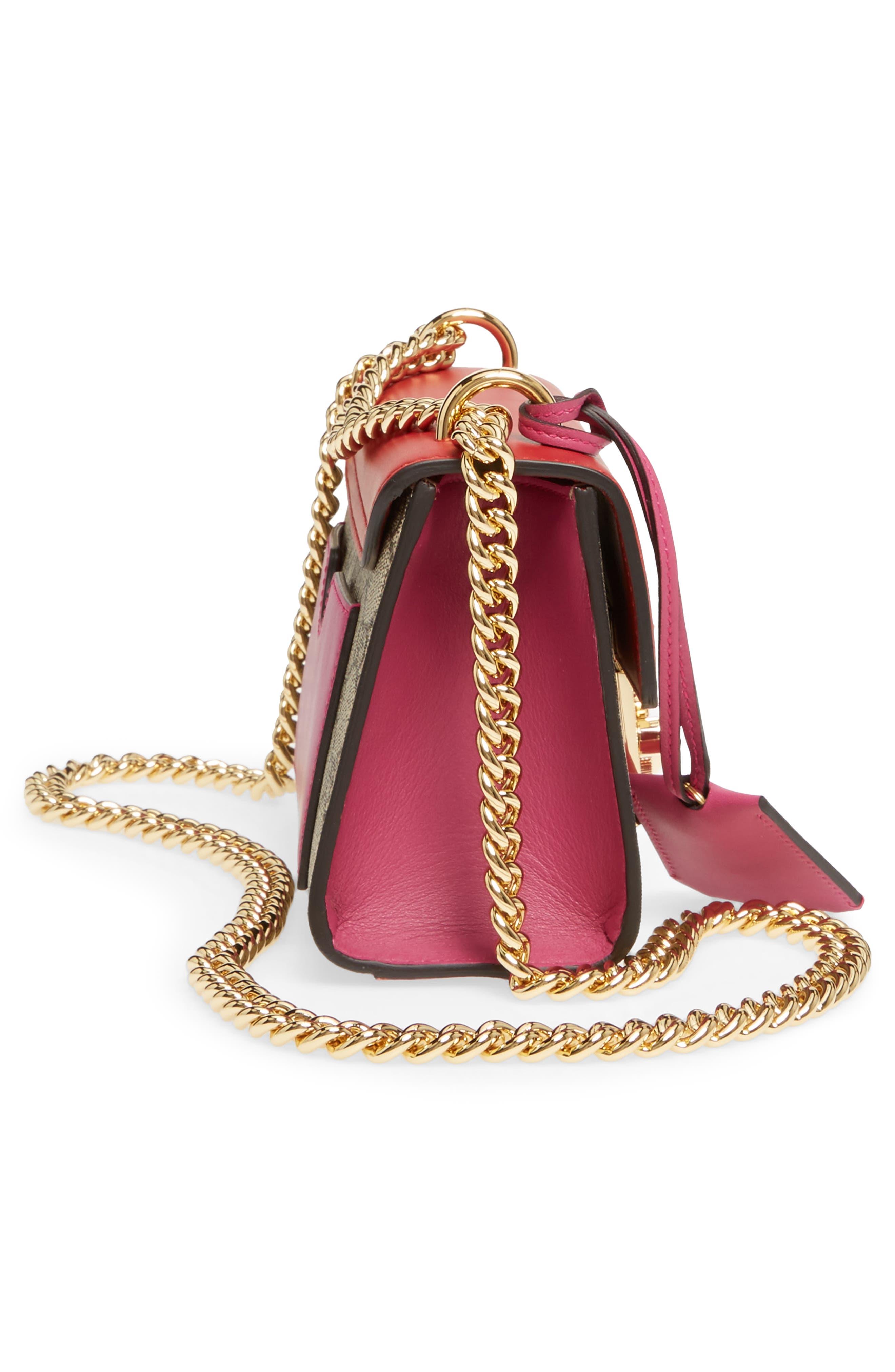 Small Padlock Shoulder Bag,                             Alternate thumbnail 3, color,                             Beige/ Hibiscus/ Roset
