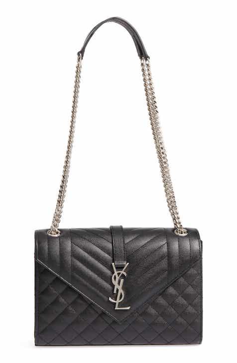 34994860dda1 Saint Laurent Medium Cassandra Calfskin Shoulder Bag
