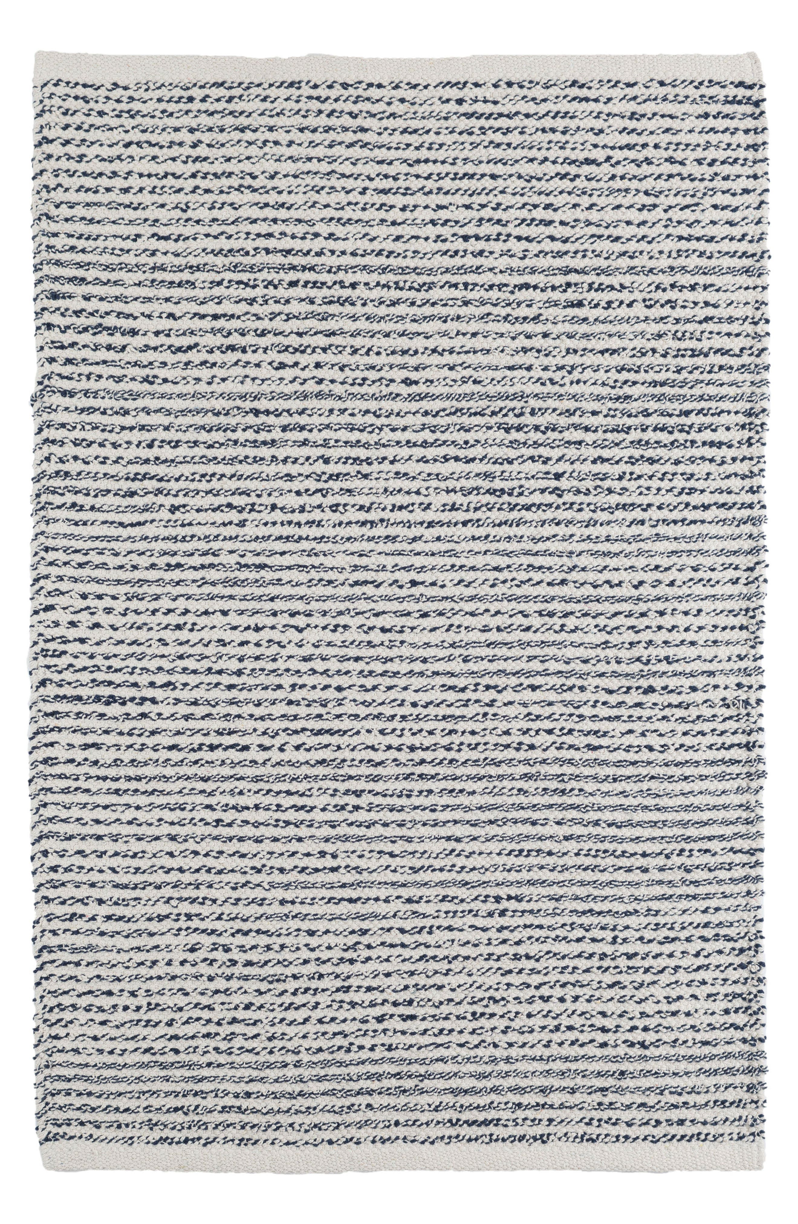 Theo Cotton Rug,                         Main,                         color, Blue