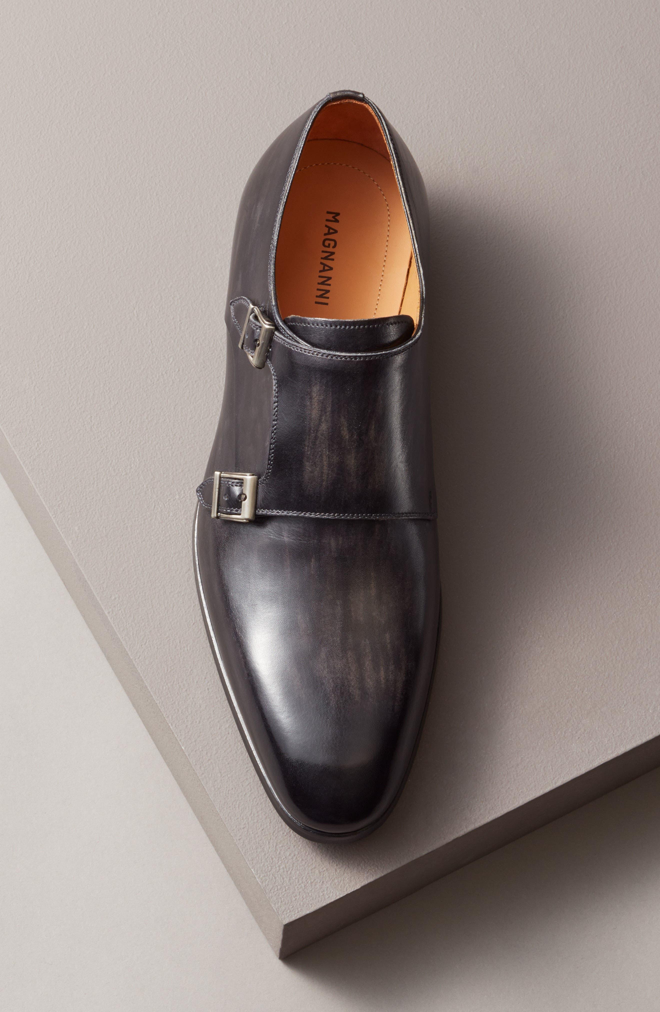 Lucio Double Strap Monk Shoe,                             Alternate thumbnail 7, color,