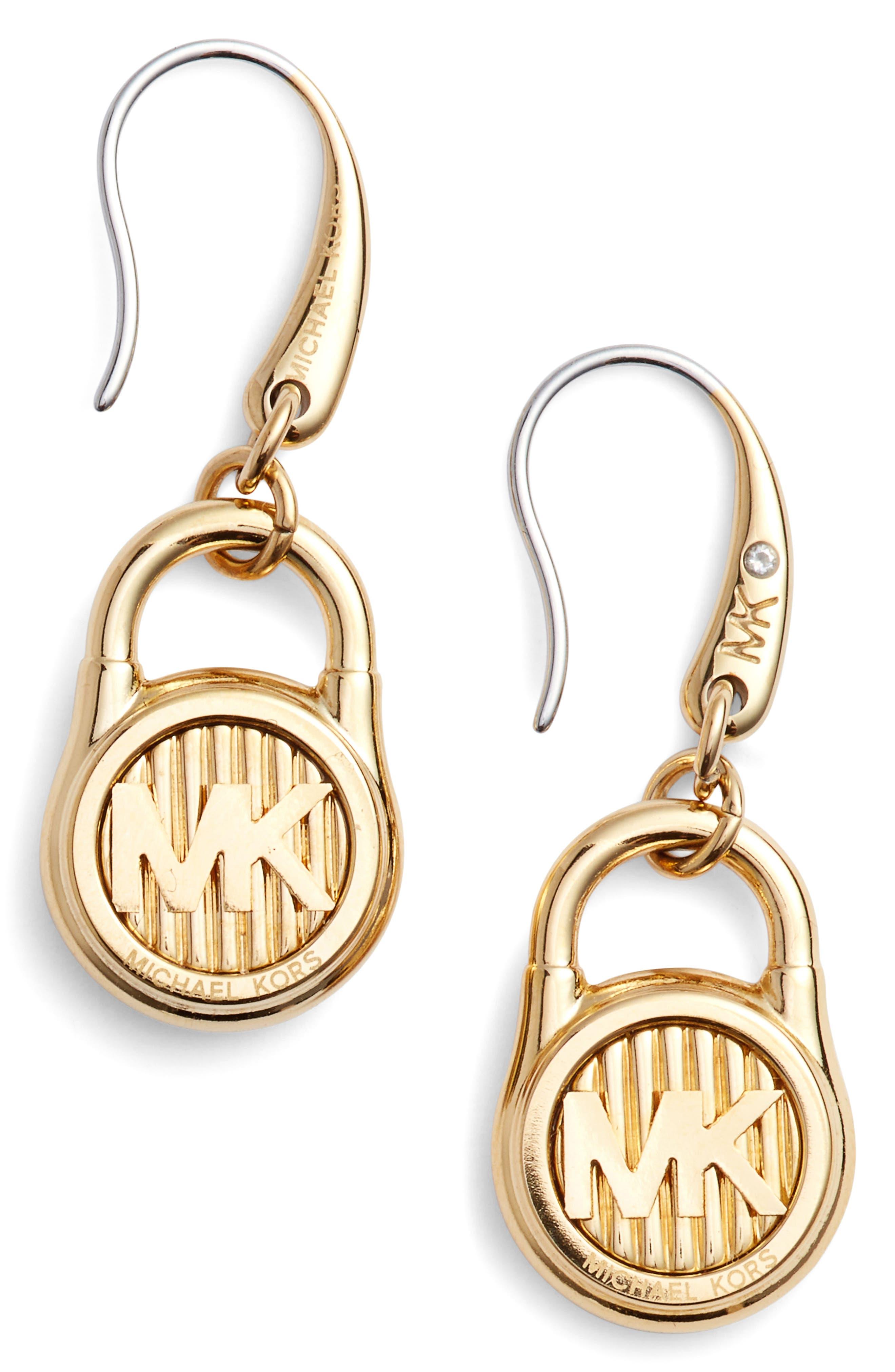 Main Image - Michael Kors Padlock Drop Earrings