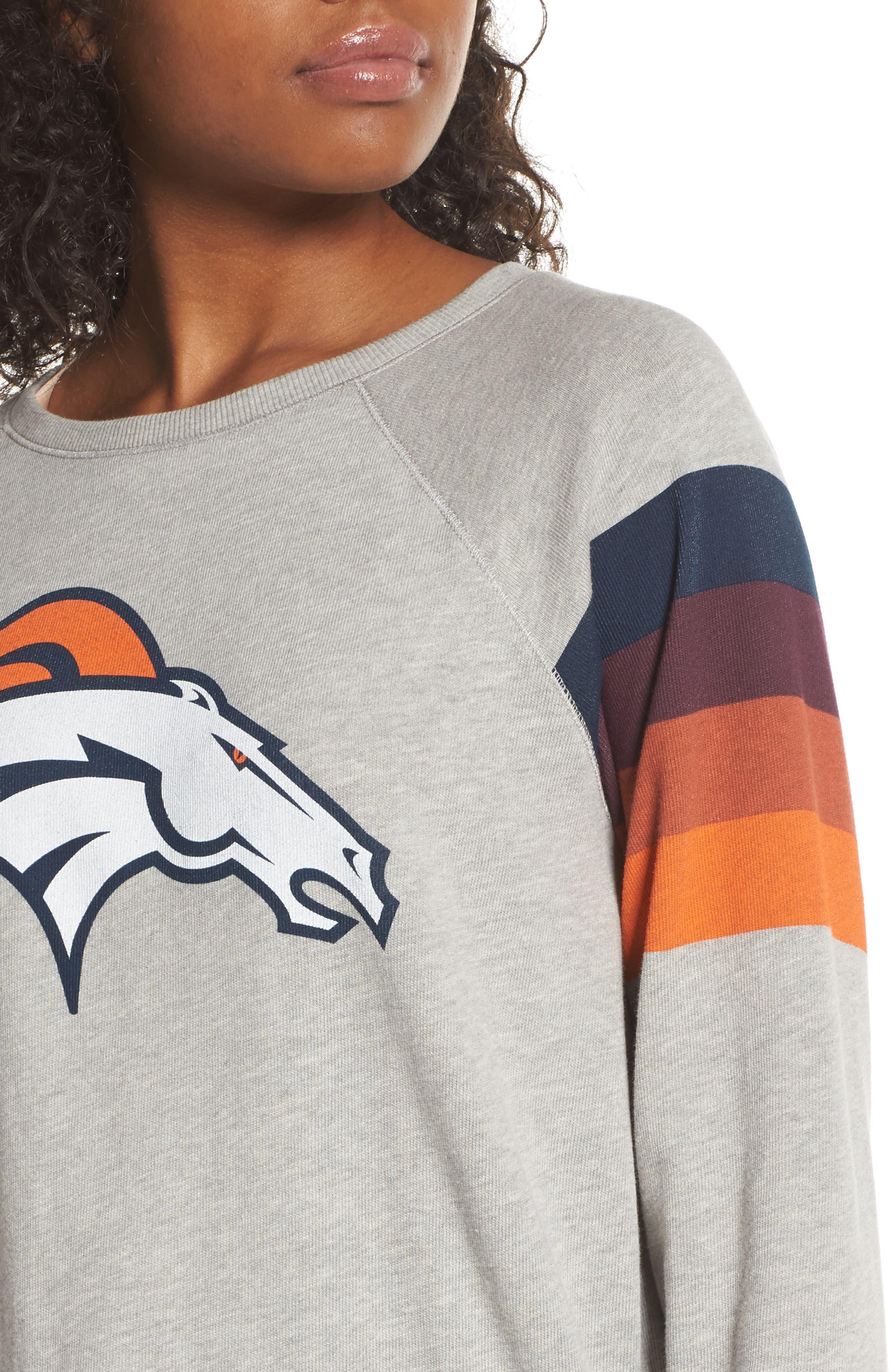 NFL Denver Broncos Hacci Sweatshirt,                             Alternate thumbnail 4, color,                             Dove Heather Grey