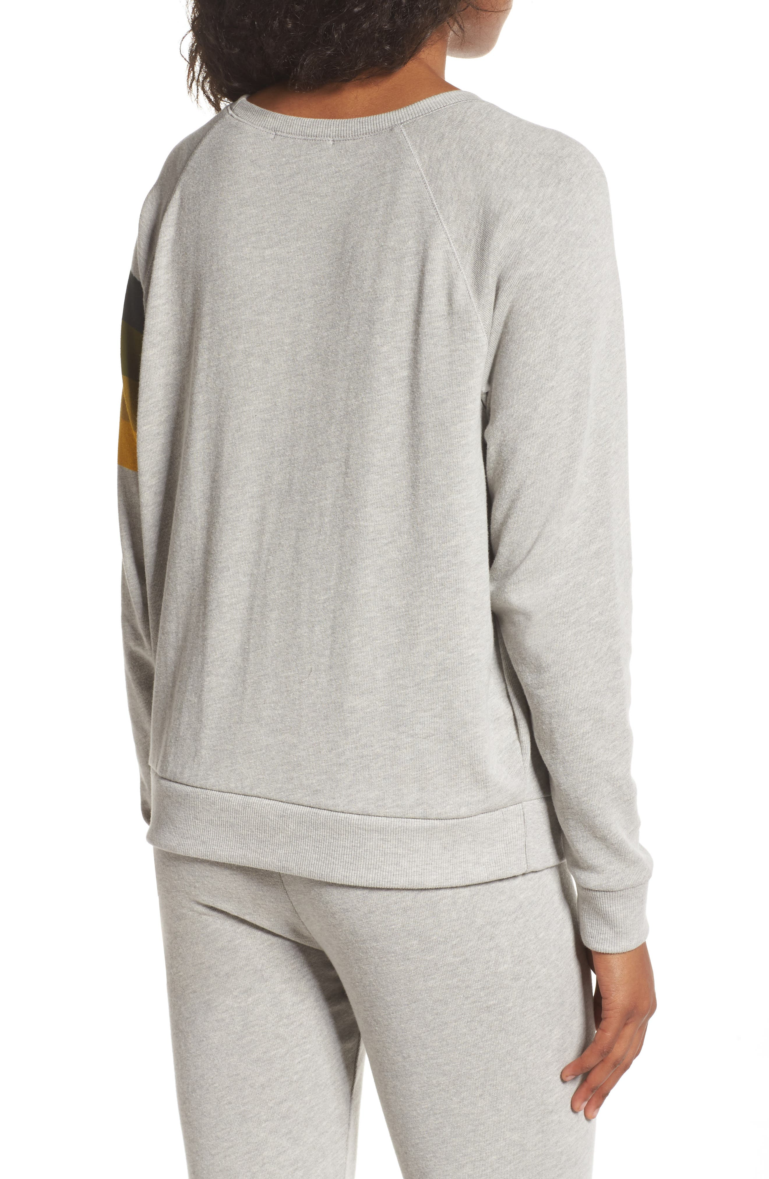 NF Green Bay Packers Hacci Sweatshirt,                             Alternate thumbnail 2, color,                             Dove Heather Grey