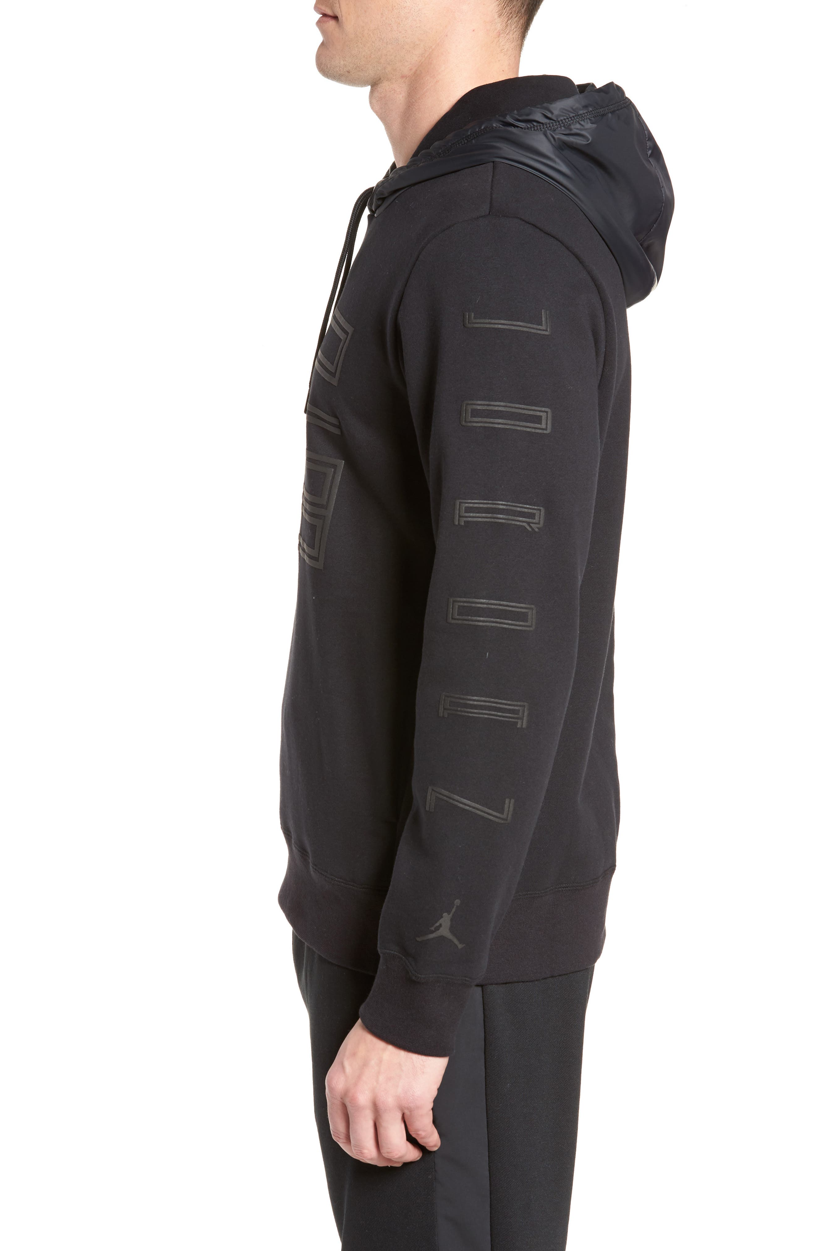 Sportswear AJ11 Hybrid Hoodie,                             Alternate thumbnail 4, color,                             Black