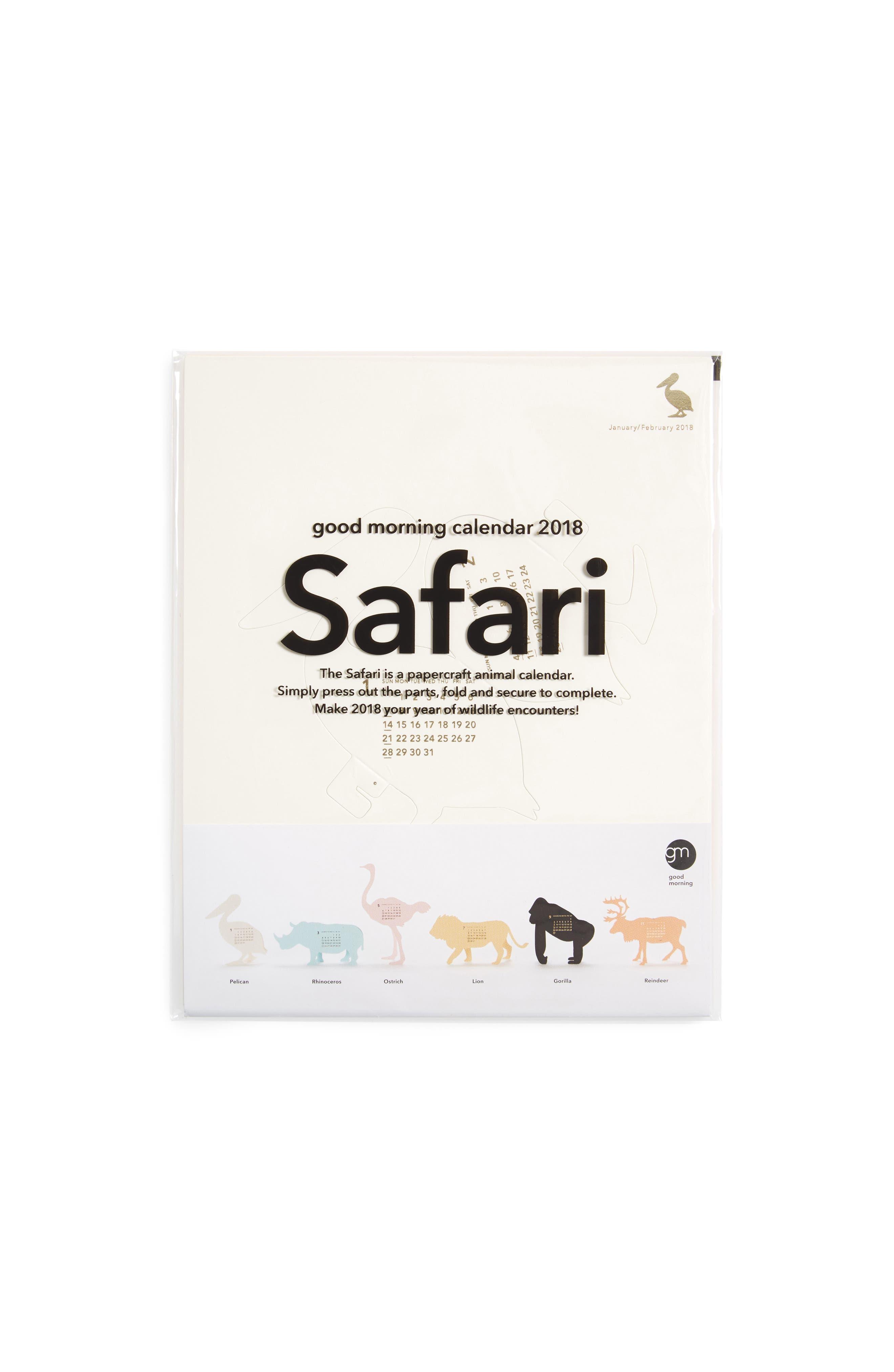 MoMA Design Store 2018 3D Safari Calendar