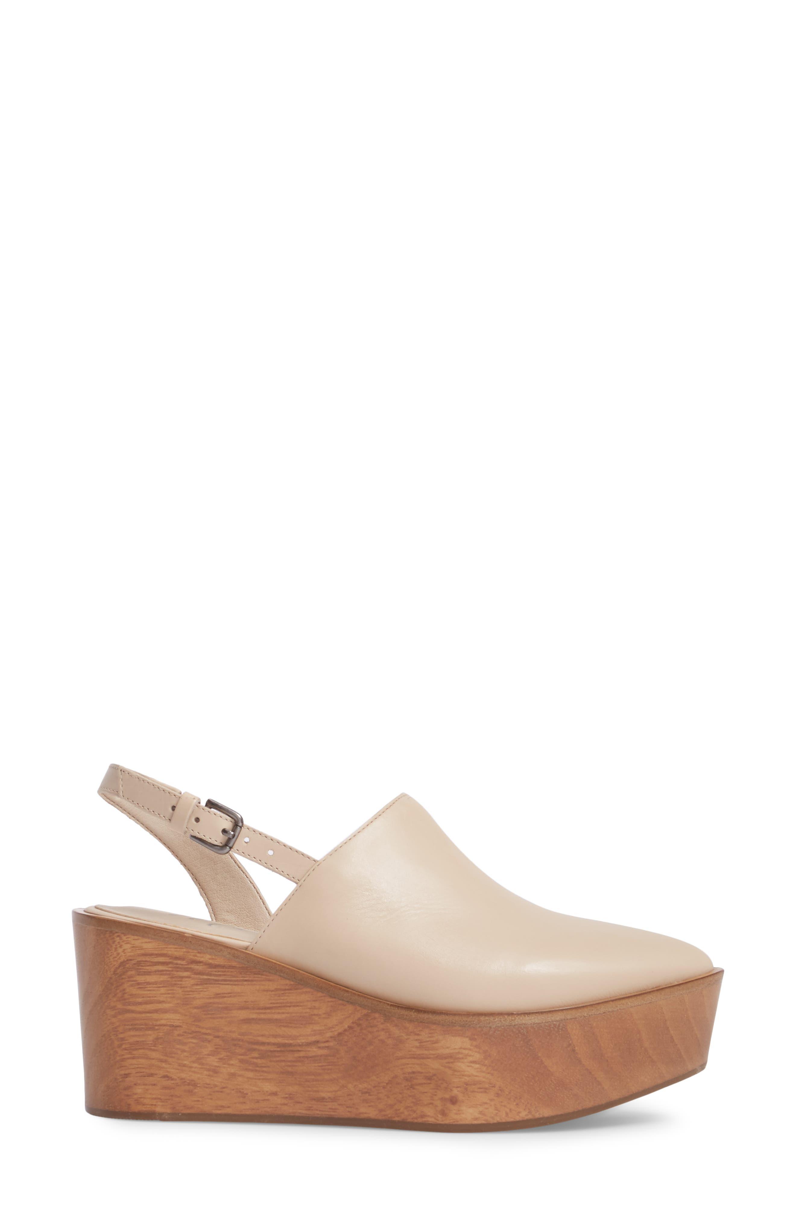 Eyals Slingback Platform Wedge Sandal,                             Alternate thumbnail 3, color,                             Natural Leather