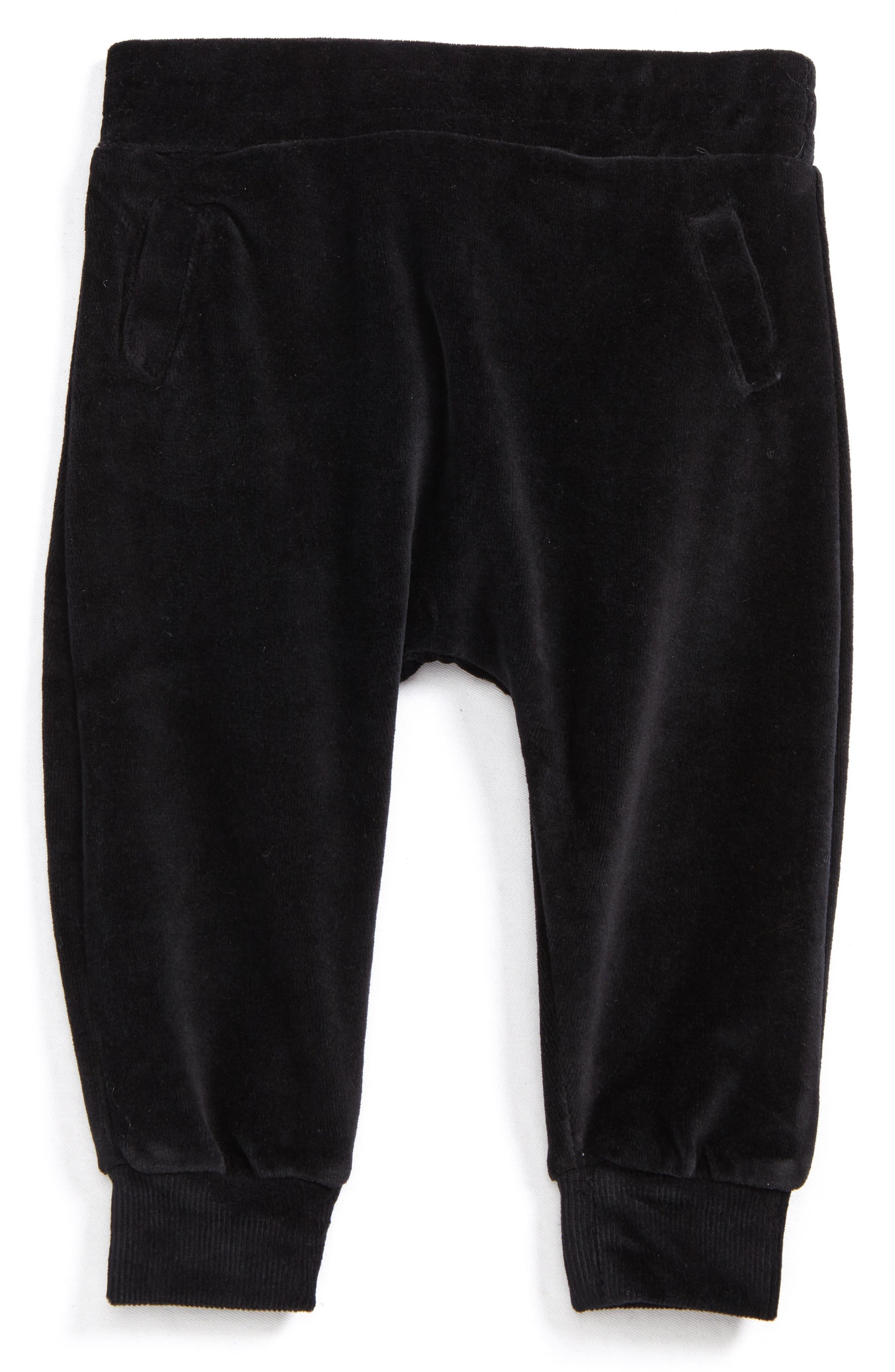 Velour Sweatpants,                         Main,                         color, Black