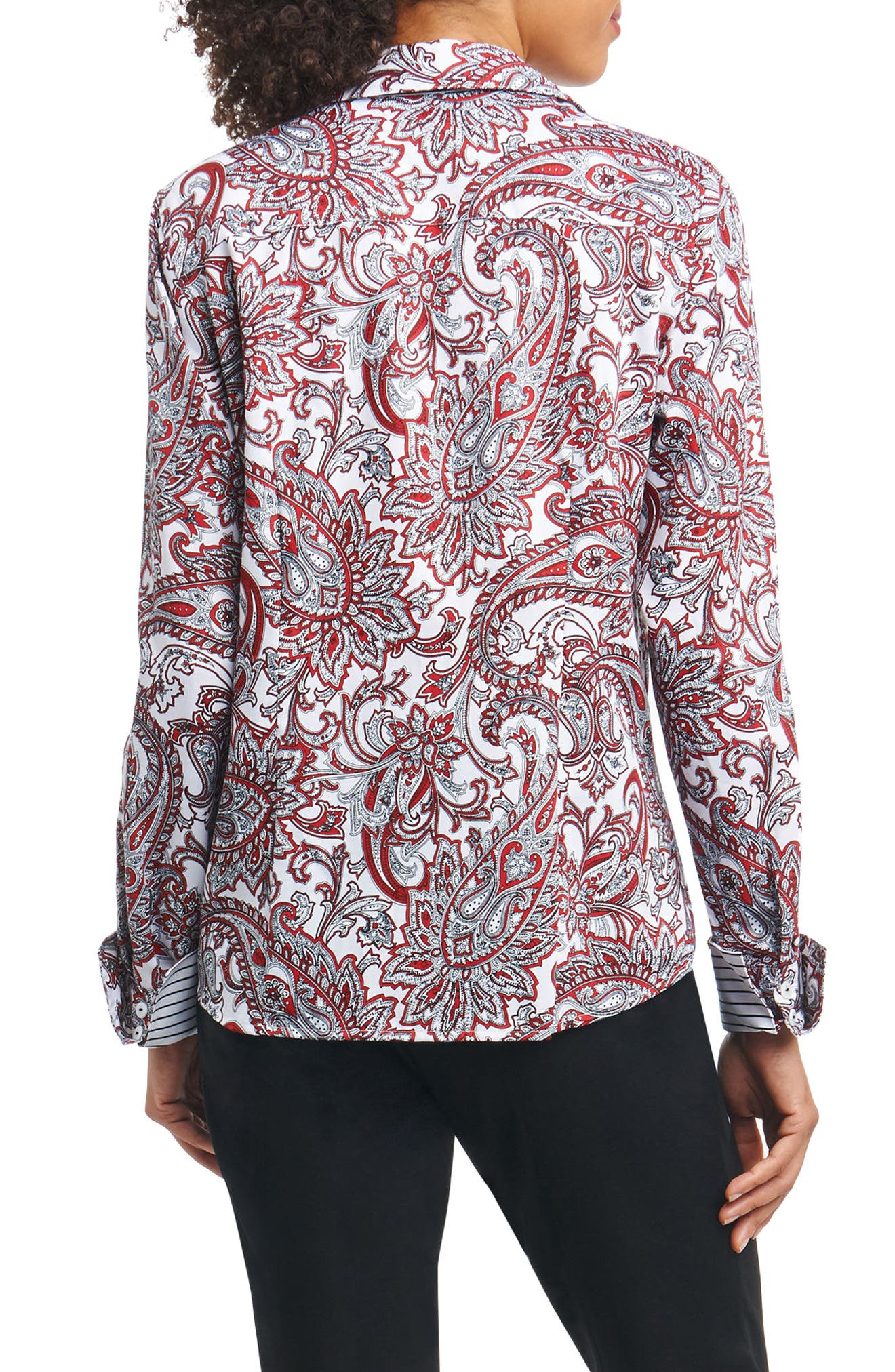 Lauren Romantic Paisley Shirt,                             Alternate thumbnail 2, color,                             Multi