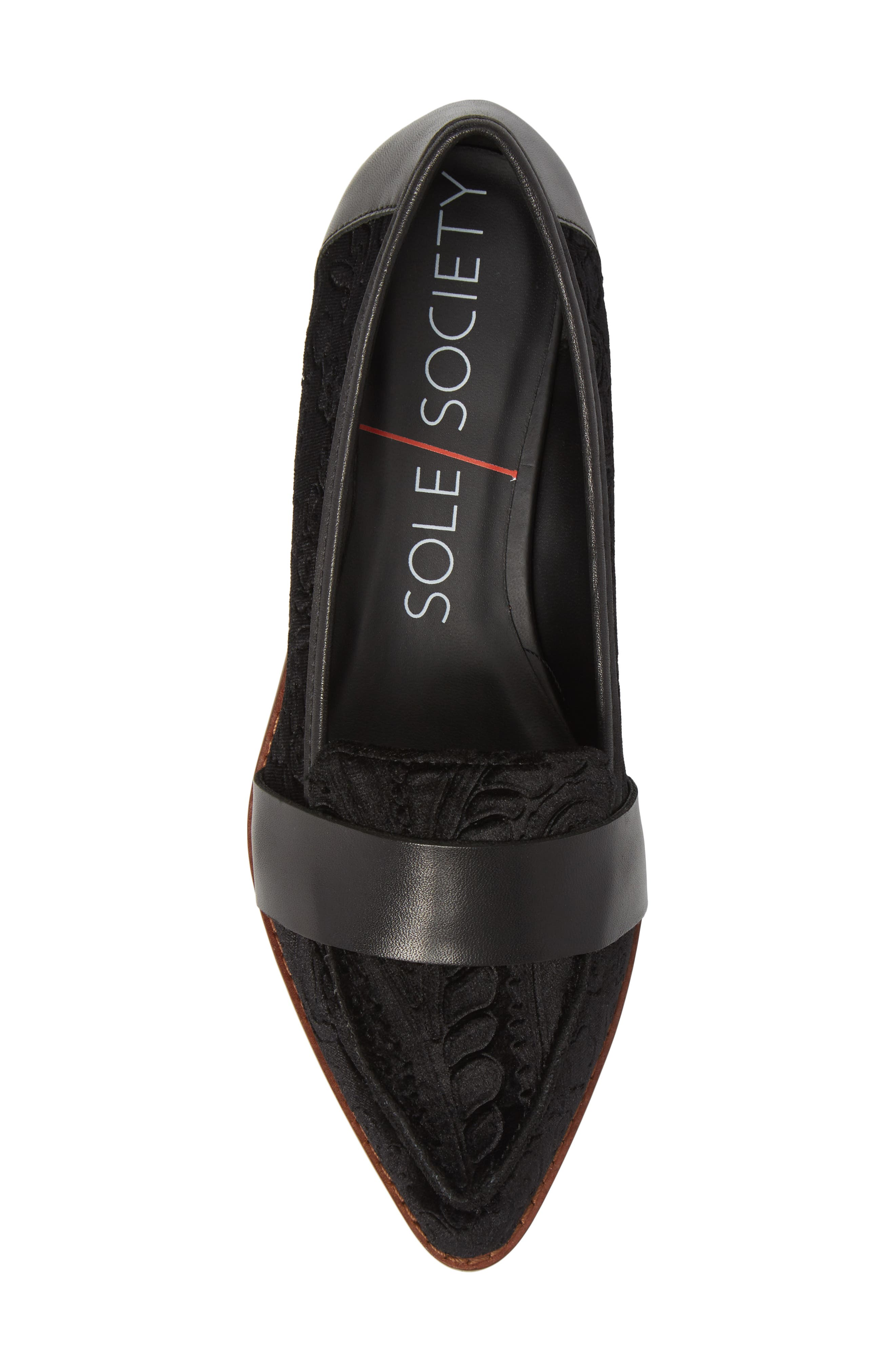 Alternate Image 5  - Sole Society Edie Pointy Toe Loafer (Women)
