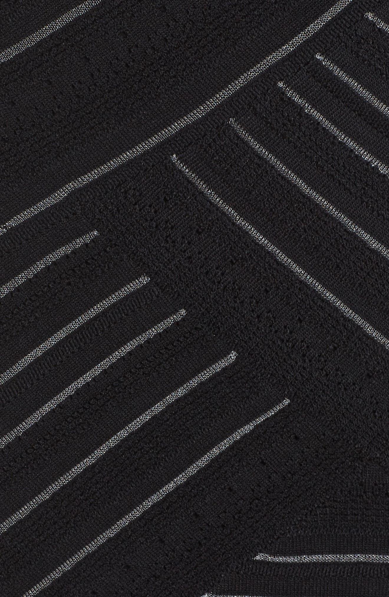 NIC+ ZOE Wrapped Up Sheath Dress,                             Alternate thumbnail 5, color,                             Black Onyx