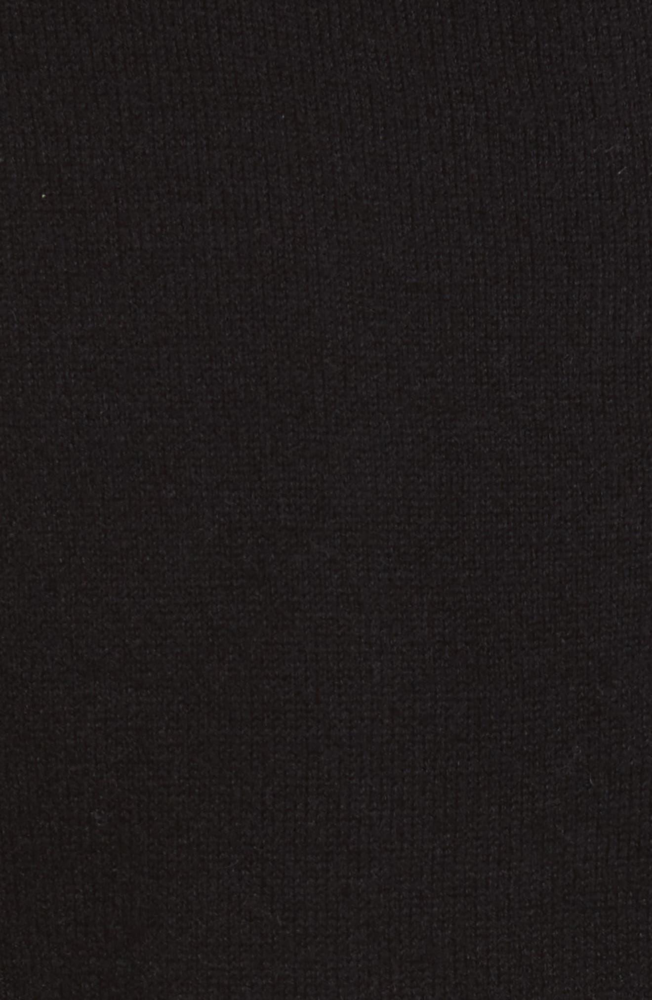 embellished collar sweater,                             Alternate thumbnail 5, color,                             Black