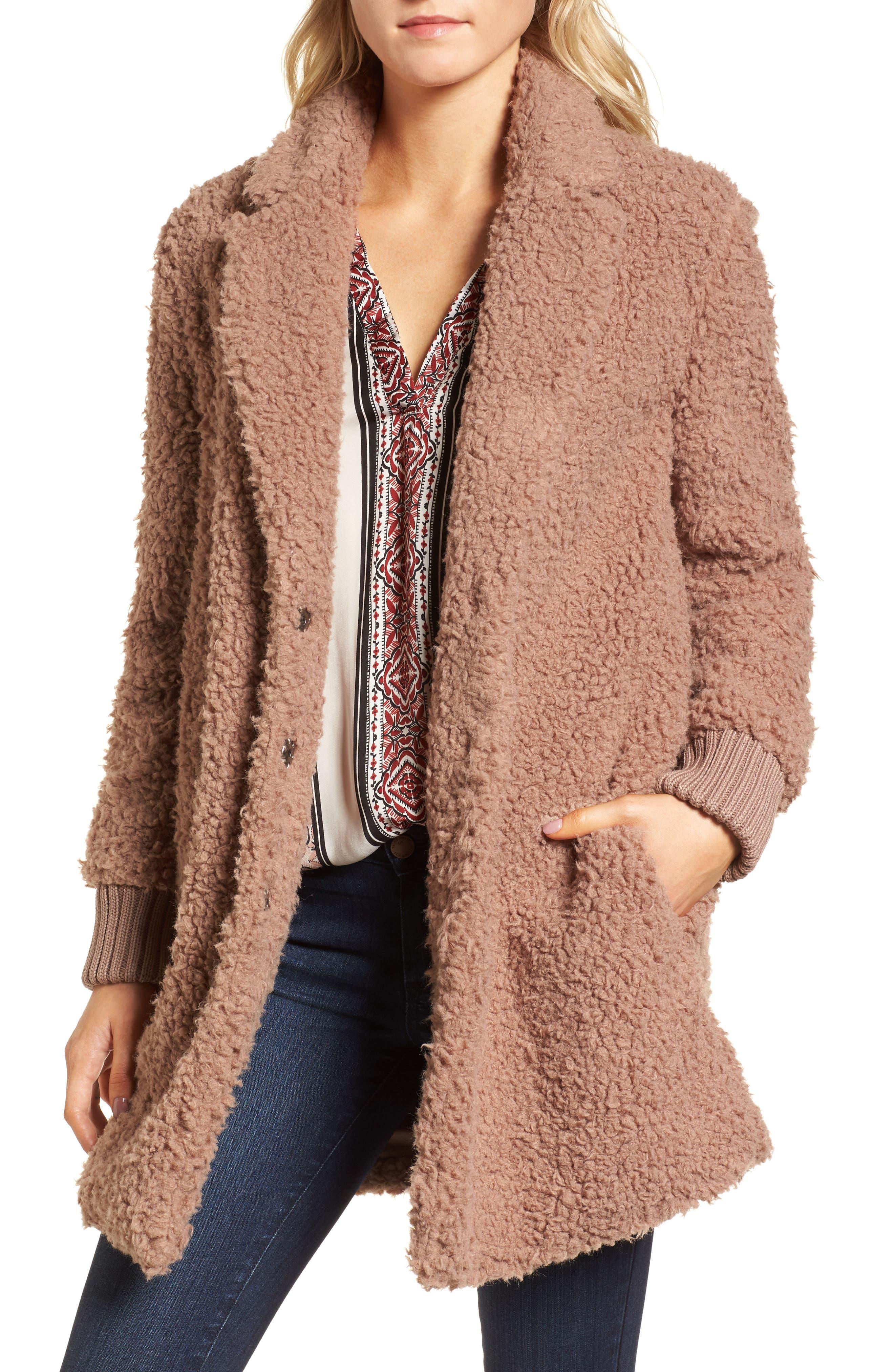 Antebellum Coat,                         Main,                         color, Dusty Mauve
