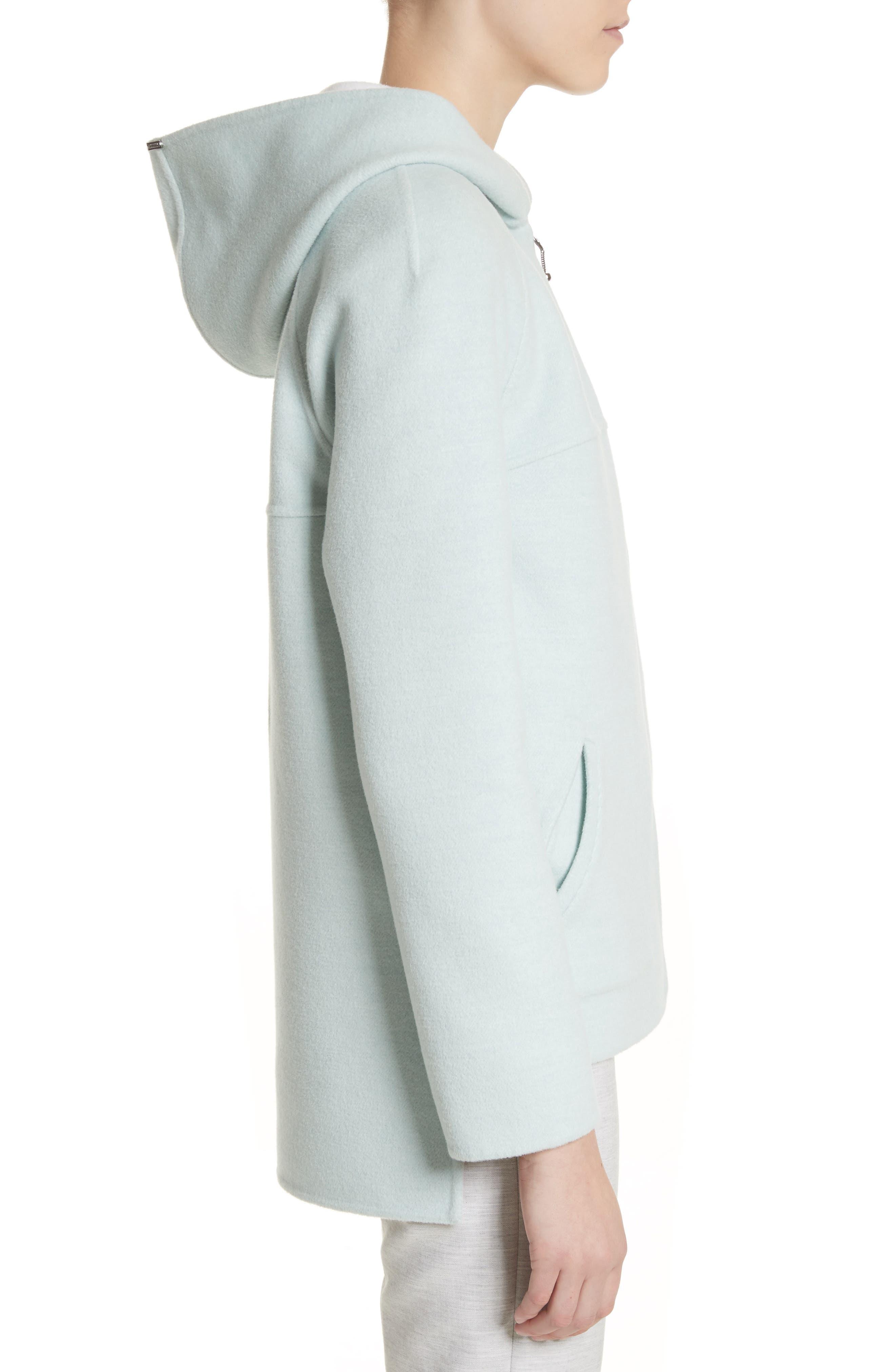 Reversible Wool & Angora Blend Sweatshirt,                             Alternate thumbnail 4, color,                             Mint/ Frost