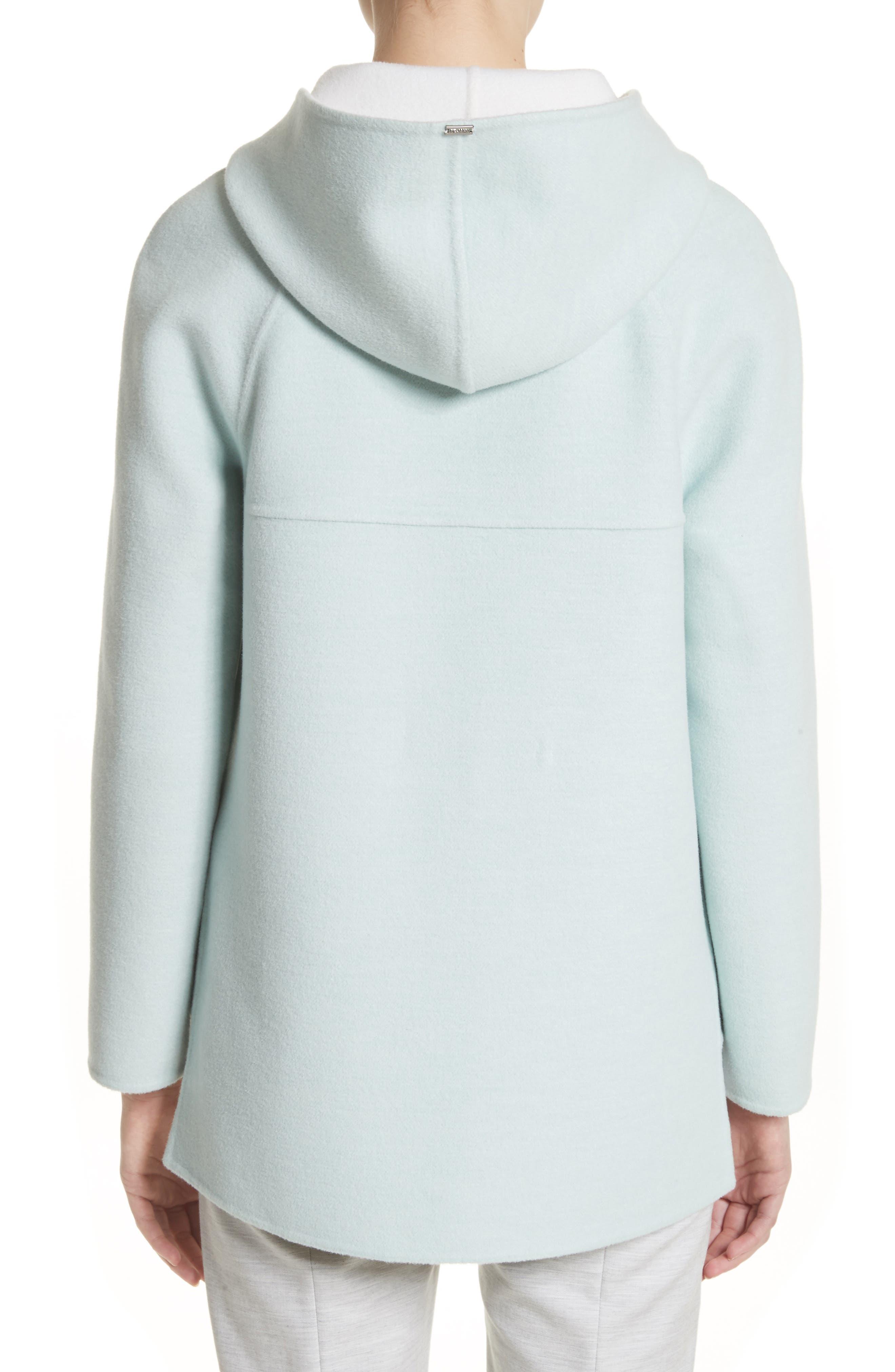 Reversible Wool & Angora Blend Sweatshirt,                             Alternate thumbnail 3, color,                             Mint/ Frost