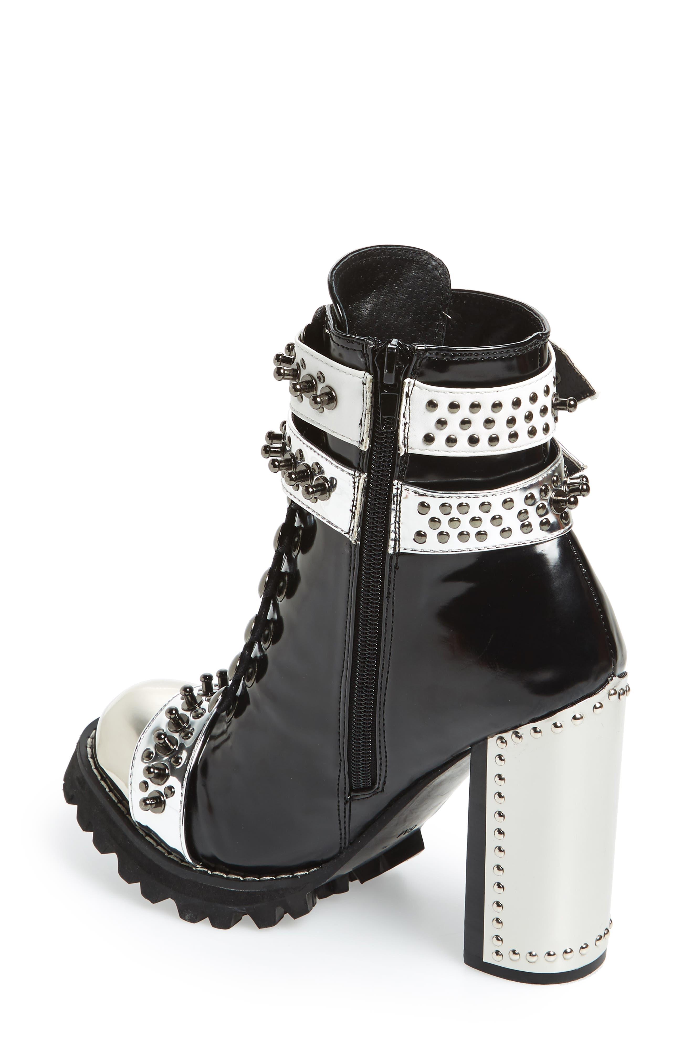 Scorpius Armored Lug Boot,                             Alternate thumbnail 2, color,                             Black Box Silver White
