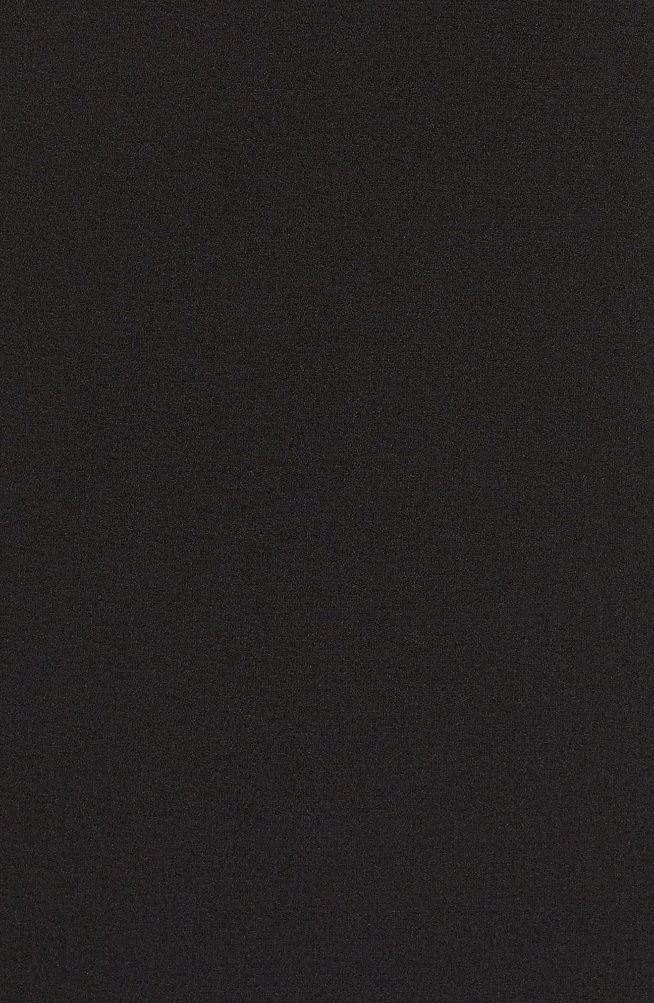 One-Shoulder Shift Dress,                             Alternate thumbnail 5, color,                             Black